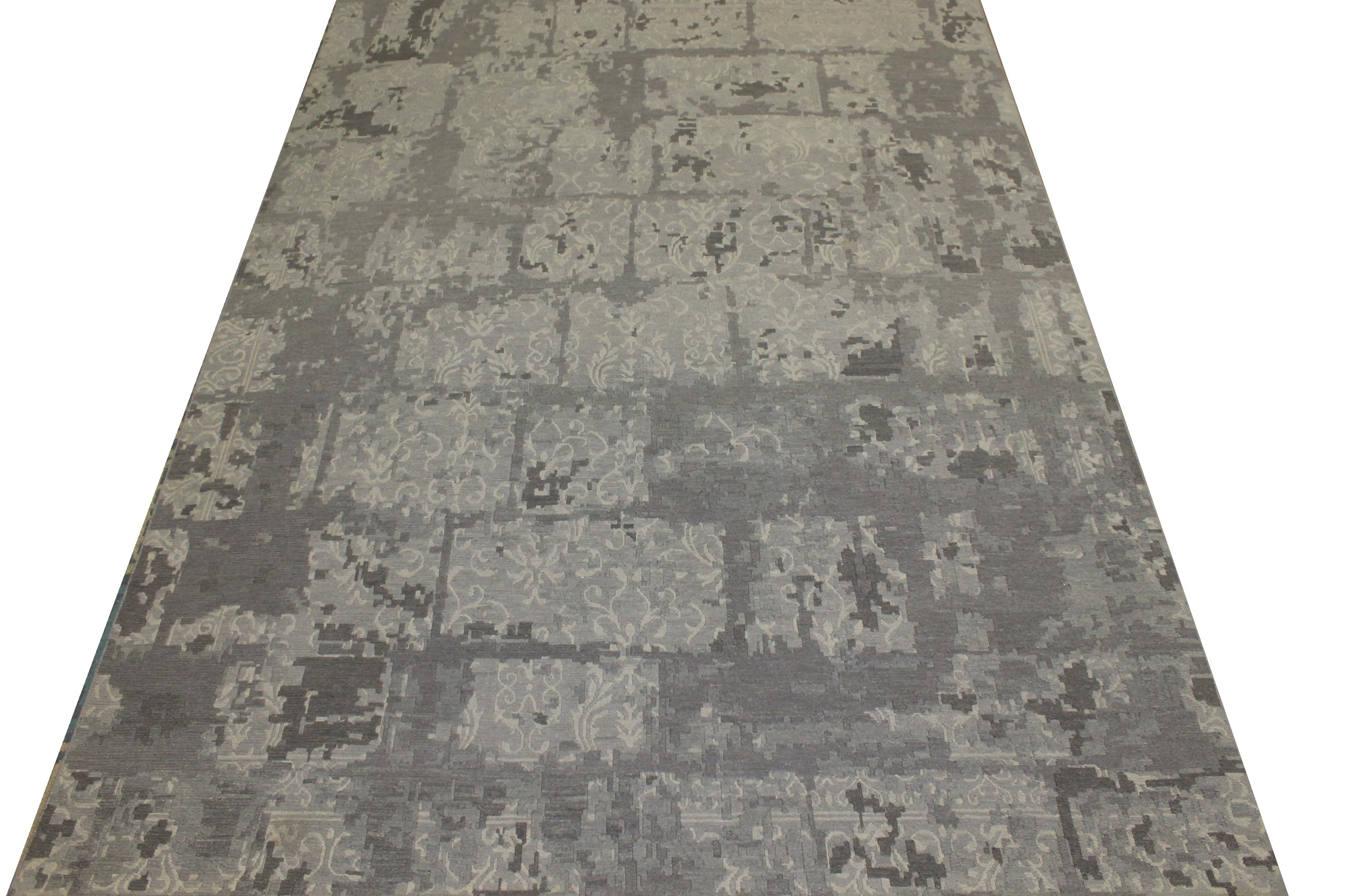 9x12 Contemporary Hand Knotted Wool Area Rug - MR16591
