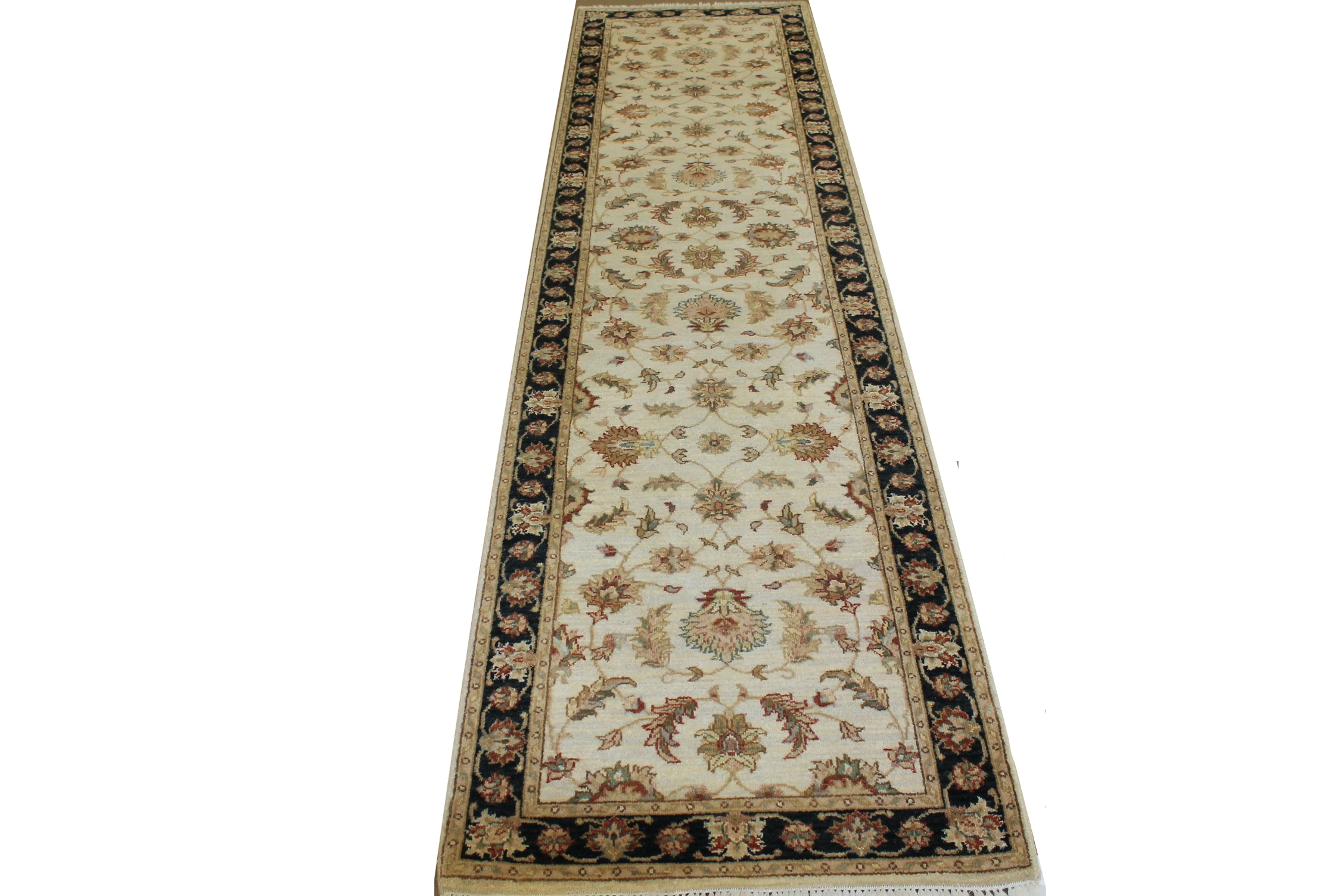 10 ft. Runner Traditional Hand Knotted Wool Area Rug - MR16655