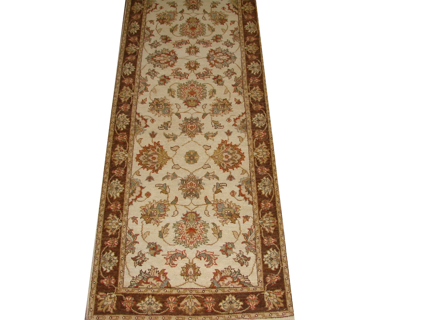 12 ft. Runner Traditional Hand Knotted Wool Area Rug - MR16658