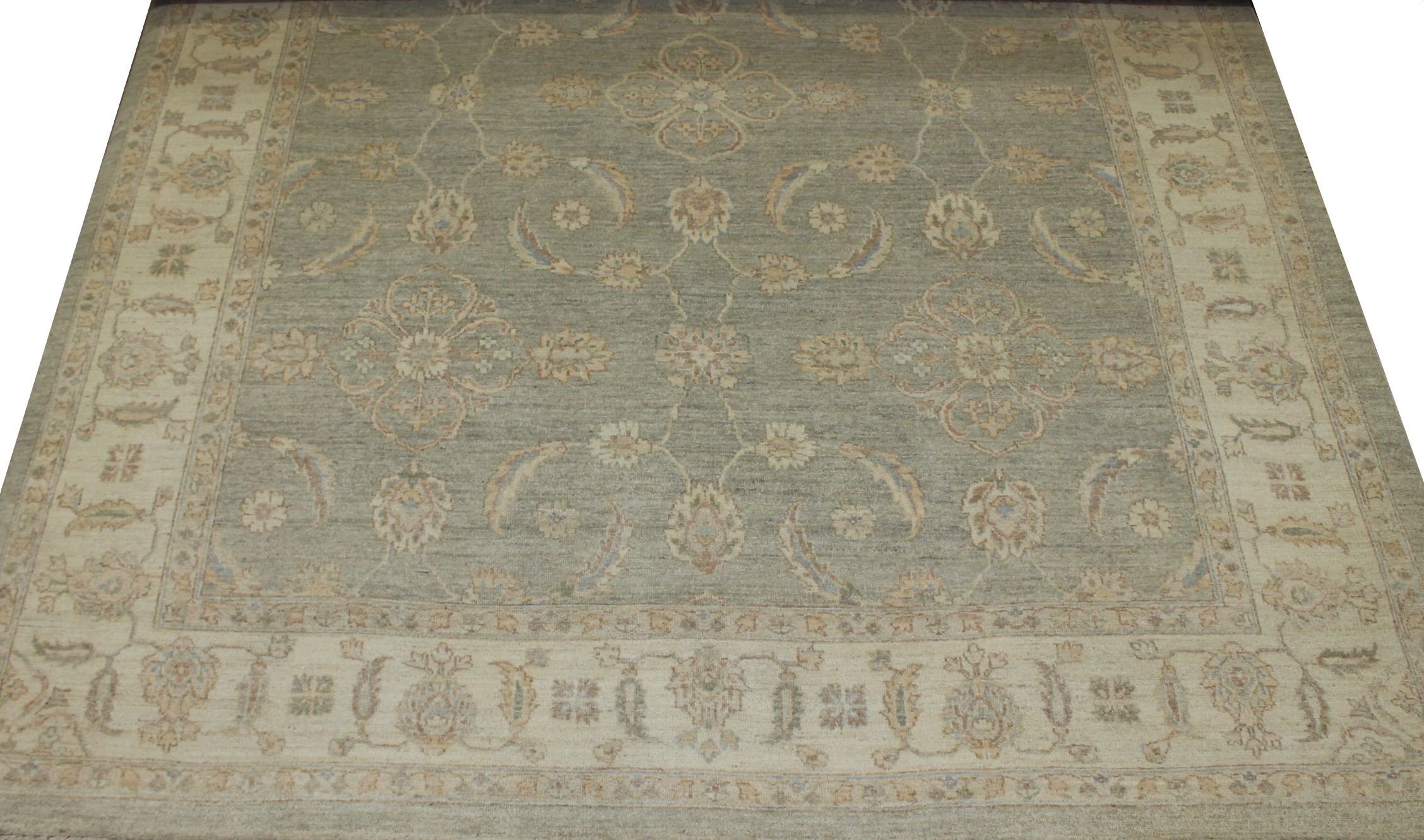8x10 Peshawar Hand Knotted Wool Area Rug - MR16727
