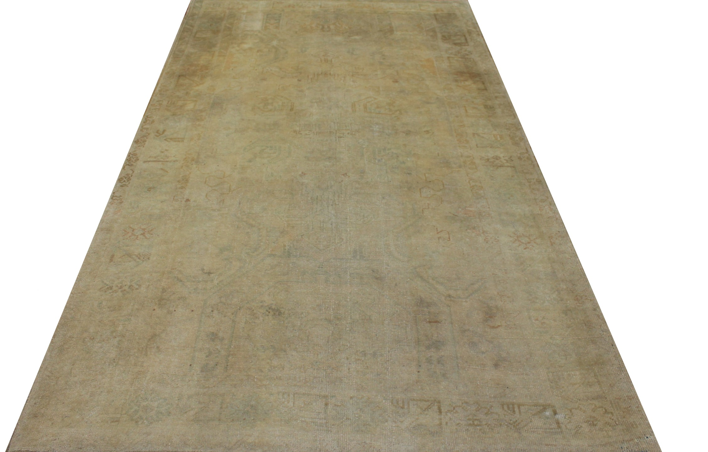 6x9 Oushak Hand Knotted Wool Area Rug - MR16781