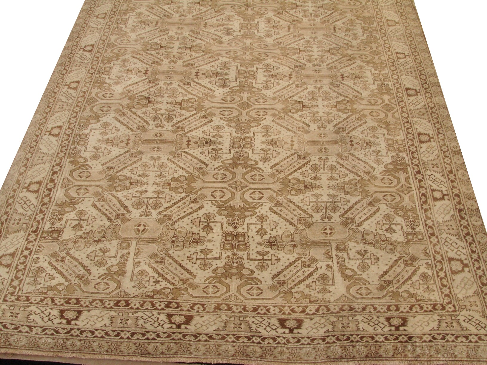 6x9 Oushak Hand Knotted Wool Area Rug - MR16797