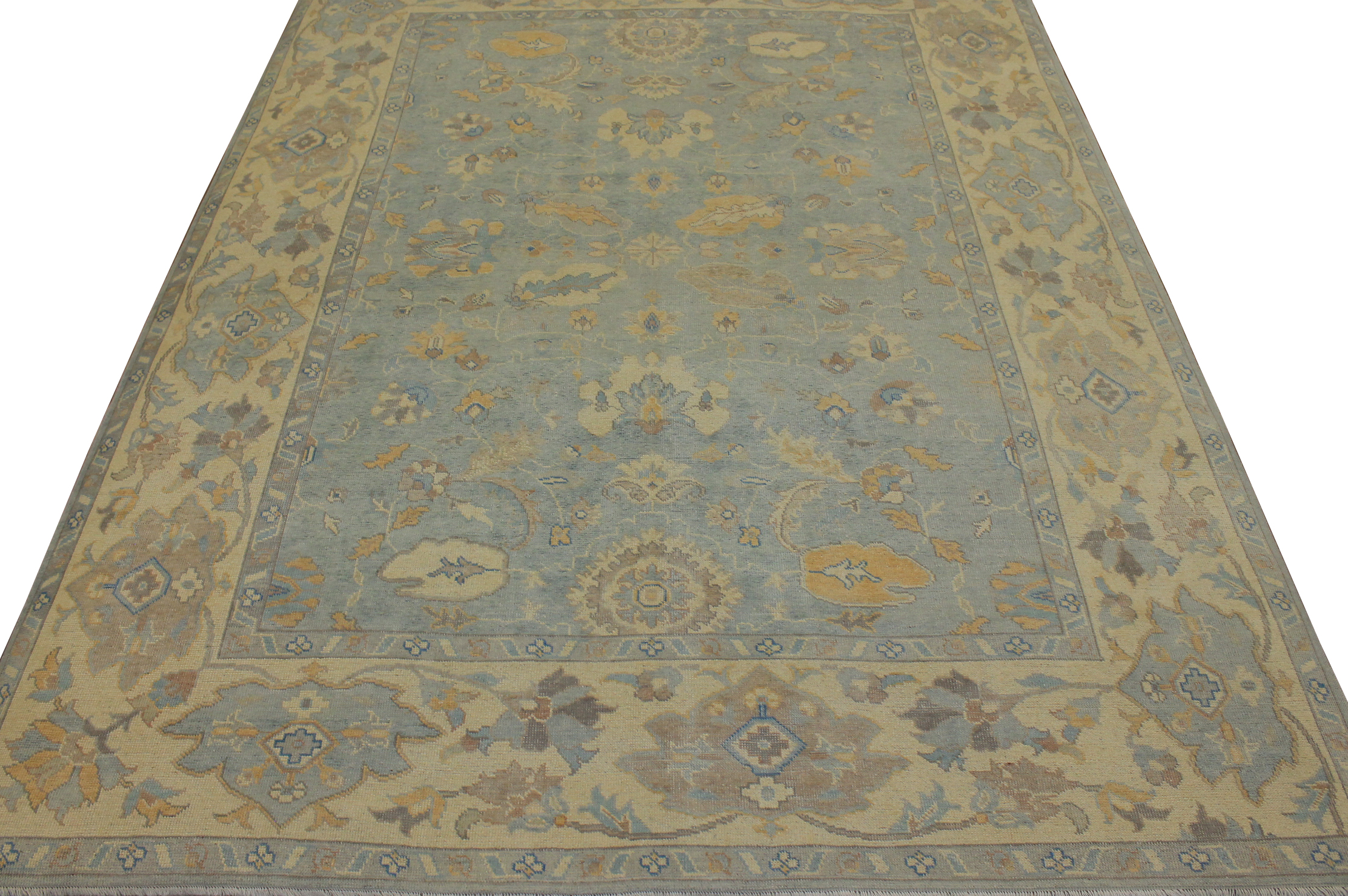 9x12 Oushak Hand Knotted Wool Area Rug - MR16822
