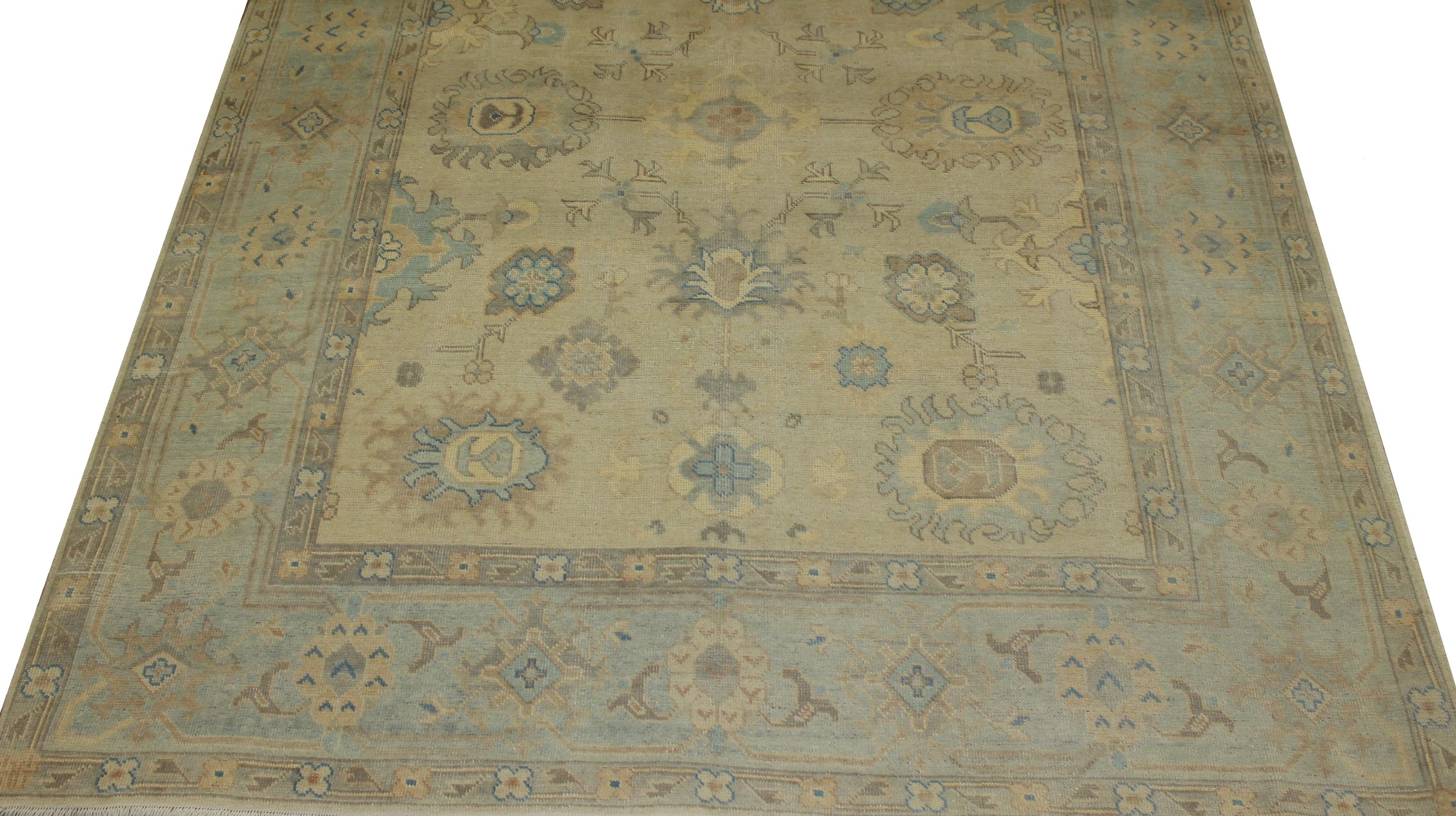 8x10 Oushak Hand Knotted Wool Area Rug - MR16826