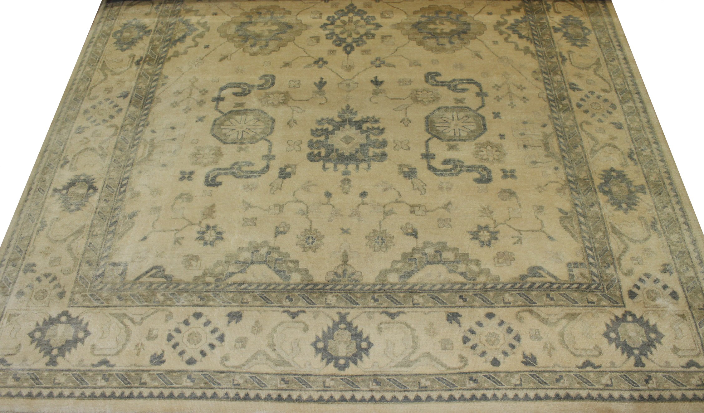 10x14 Oushak Hand Knotted Wool Area Rug - MR16881