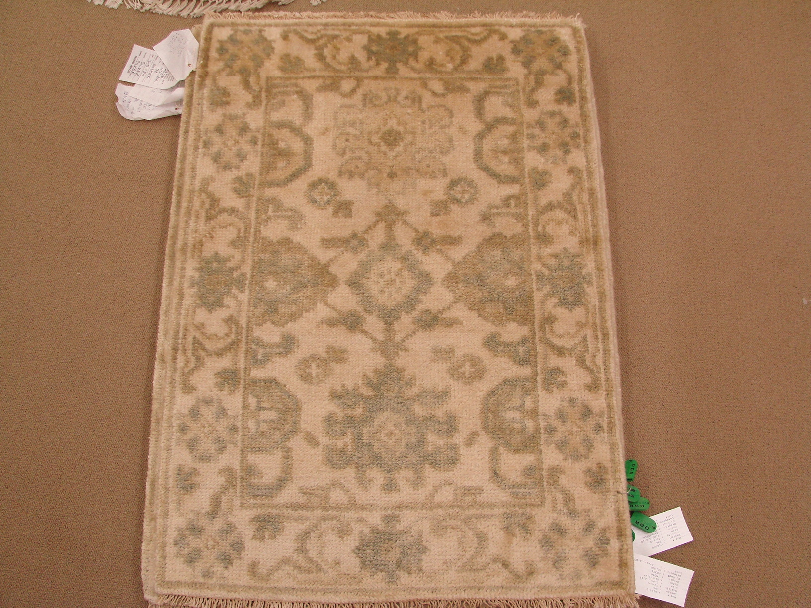 2X3 Oushak Hand Knotted Wool Area Rug - MR16912