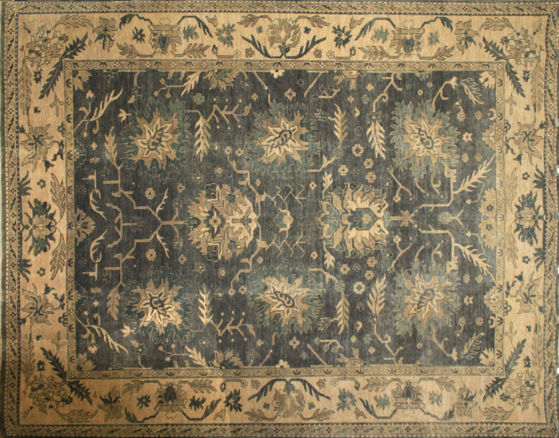 9x12 Oushak Hand Knotted Wool Area Rug - MR17011