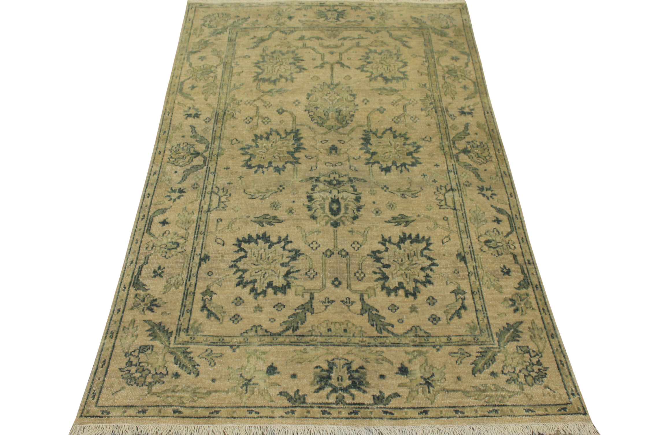 4x6 Oushak Hand Knotted Wool Area Rug - MR17015