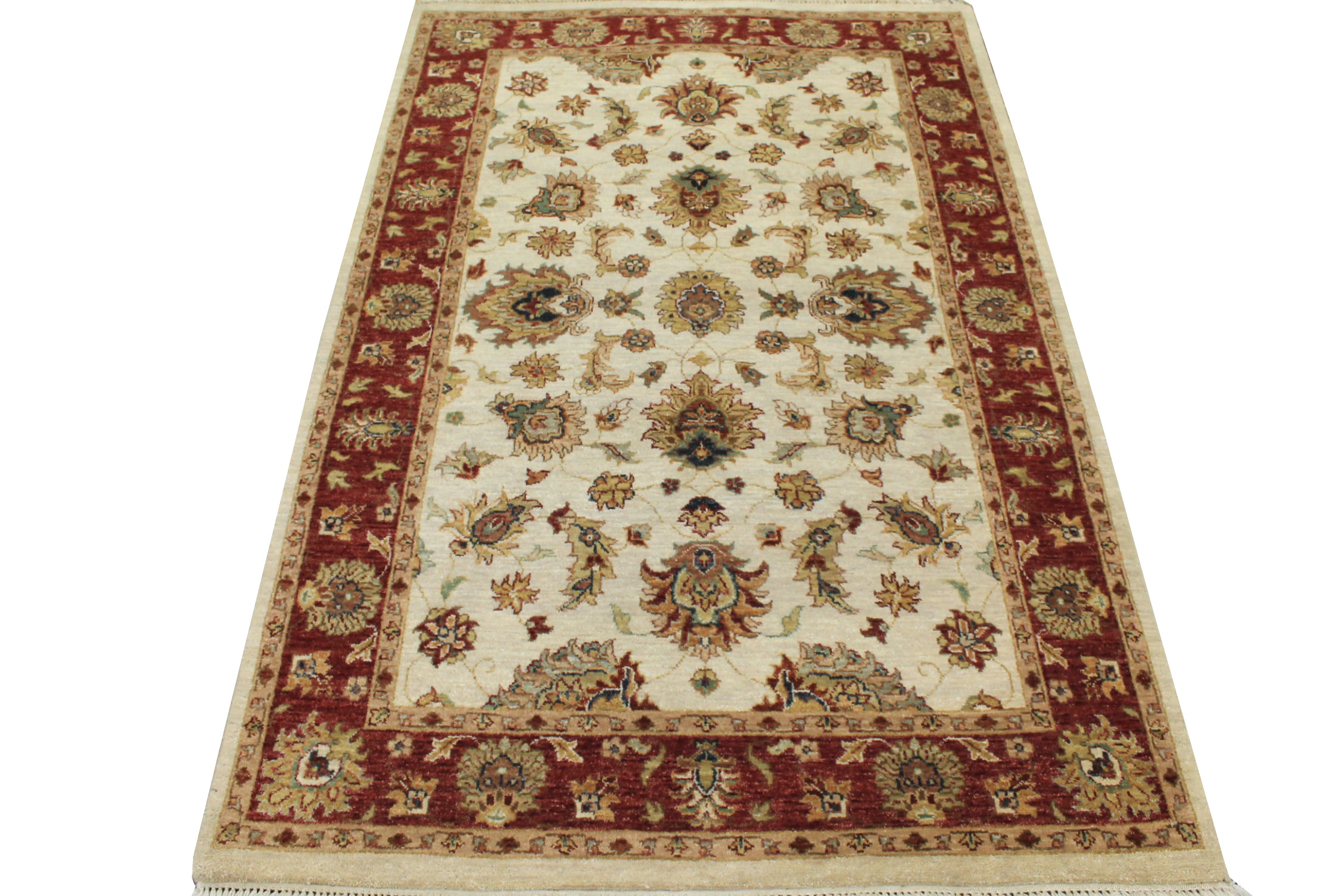 4x6 Traditional Hand Knotted Wool Area Rug - MR17119