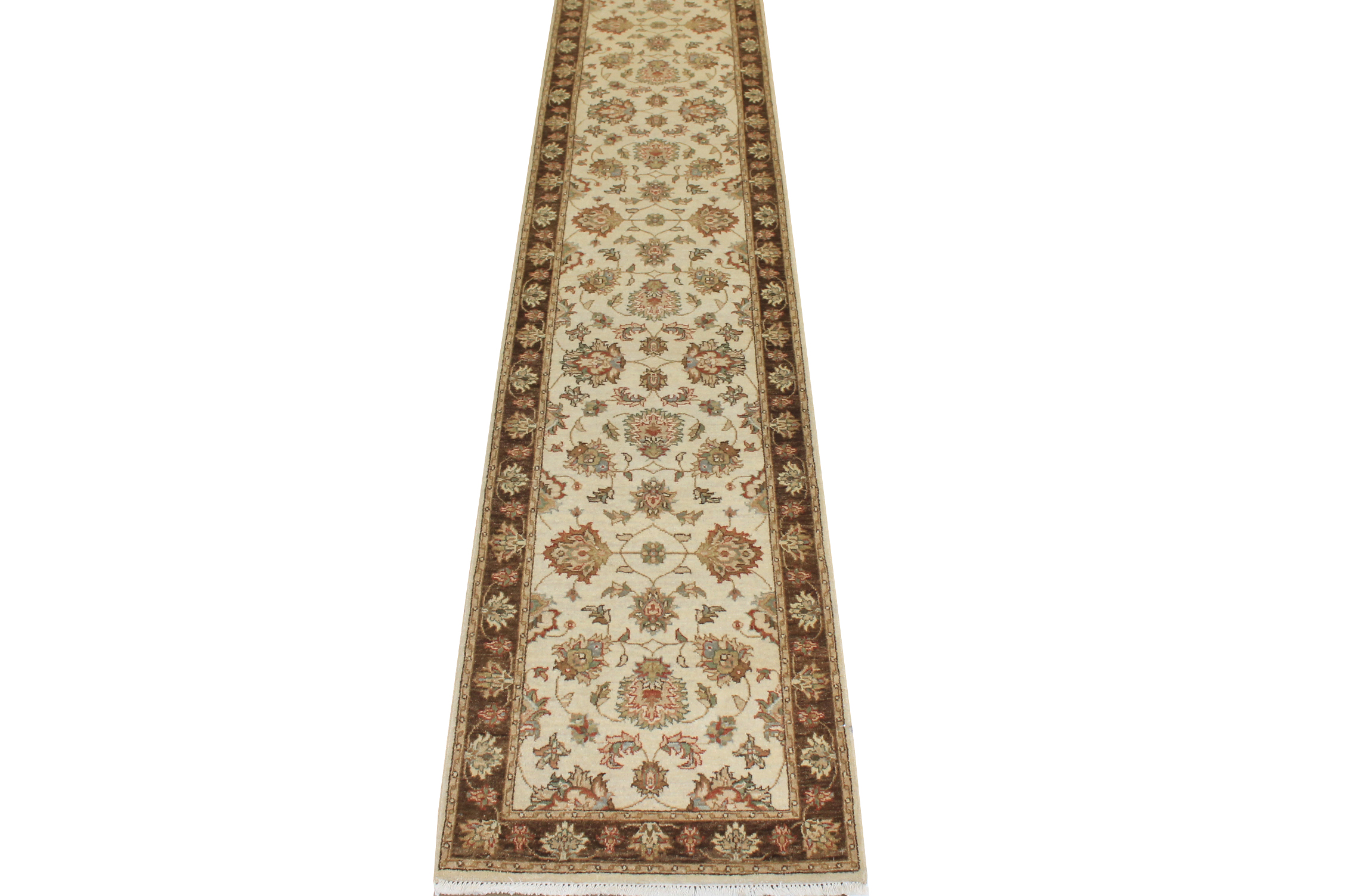 12 ft. Runner Traditional Hand Knotted Wool Area Rug - MR17145