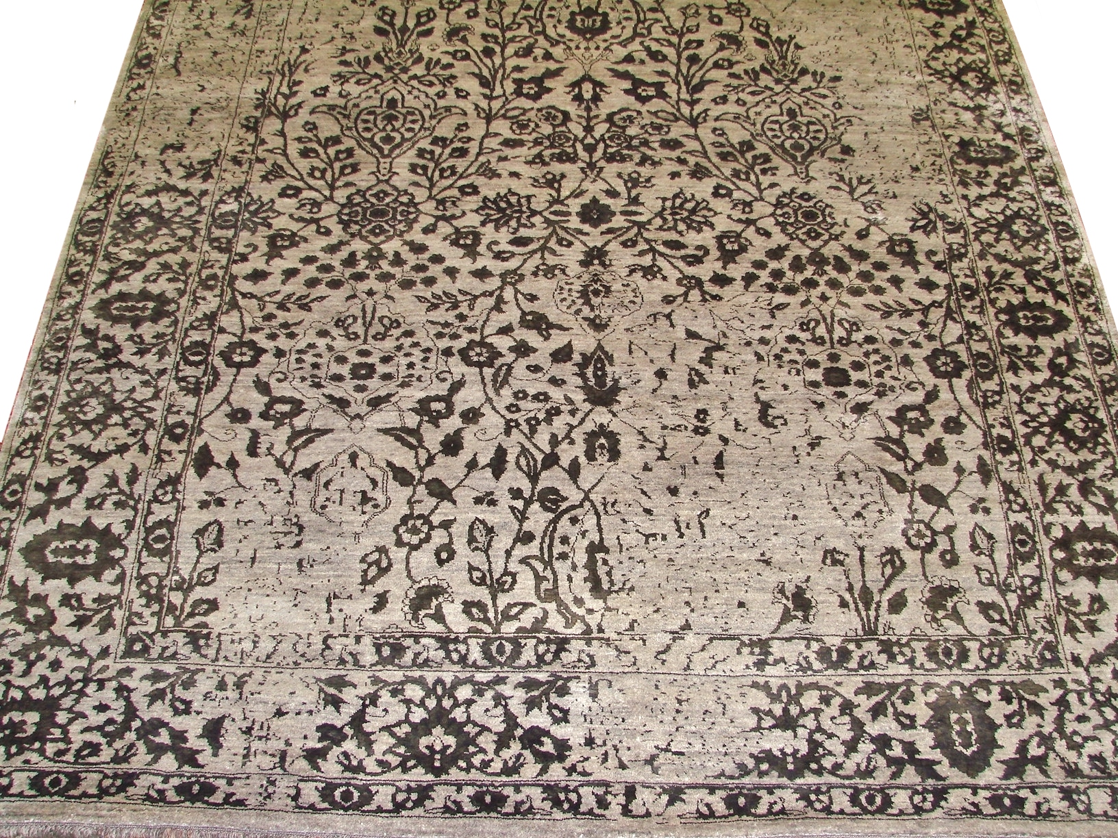 8x10 Contemporary Hand Knotted Wool Area Rug - MR17222