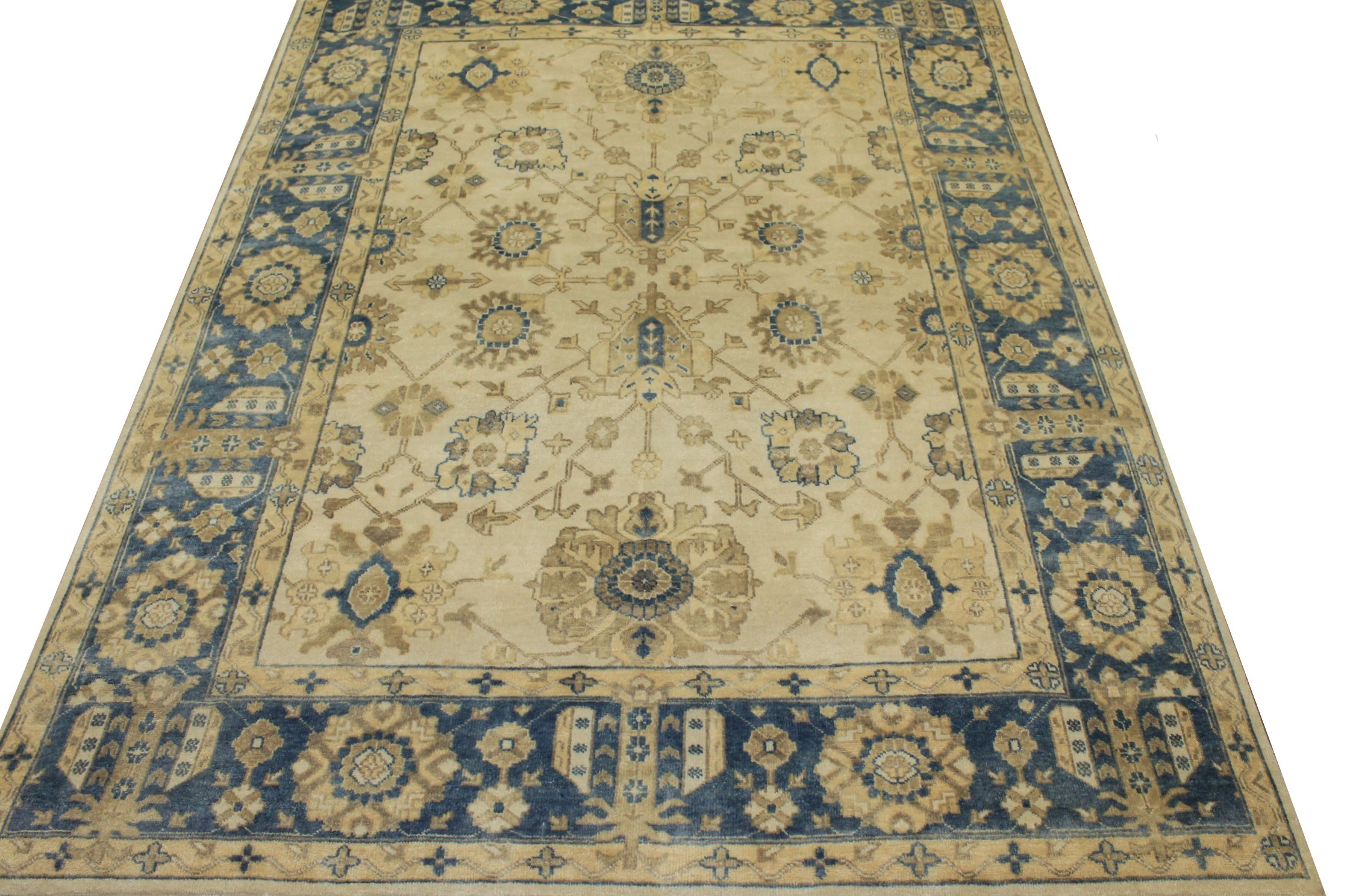 8x10 Oushak Hand Knotted Wool Area Rug - MR17226