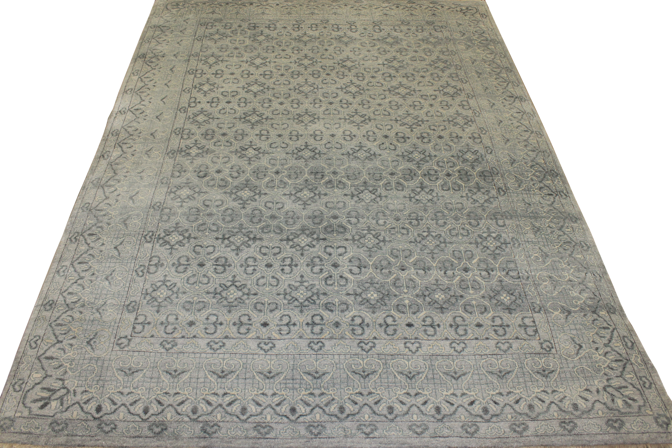 9x12 Contemporary Hand Knotted Wool Area Rug - MR17233