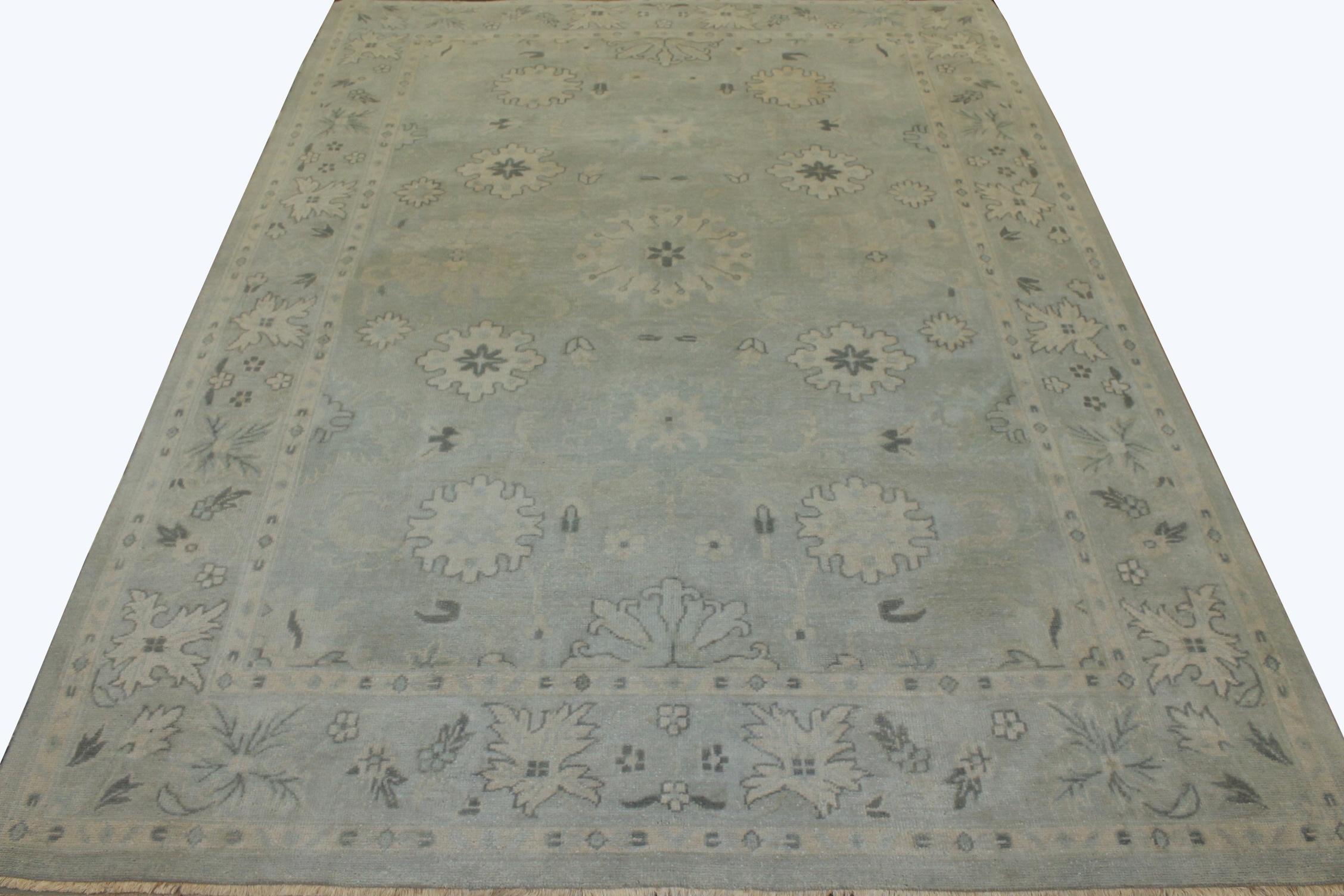 9x12 Oushak Hand Knotted Wool Area Rug - MR17236