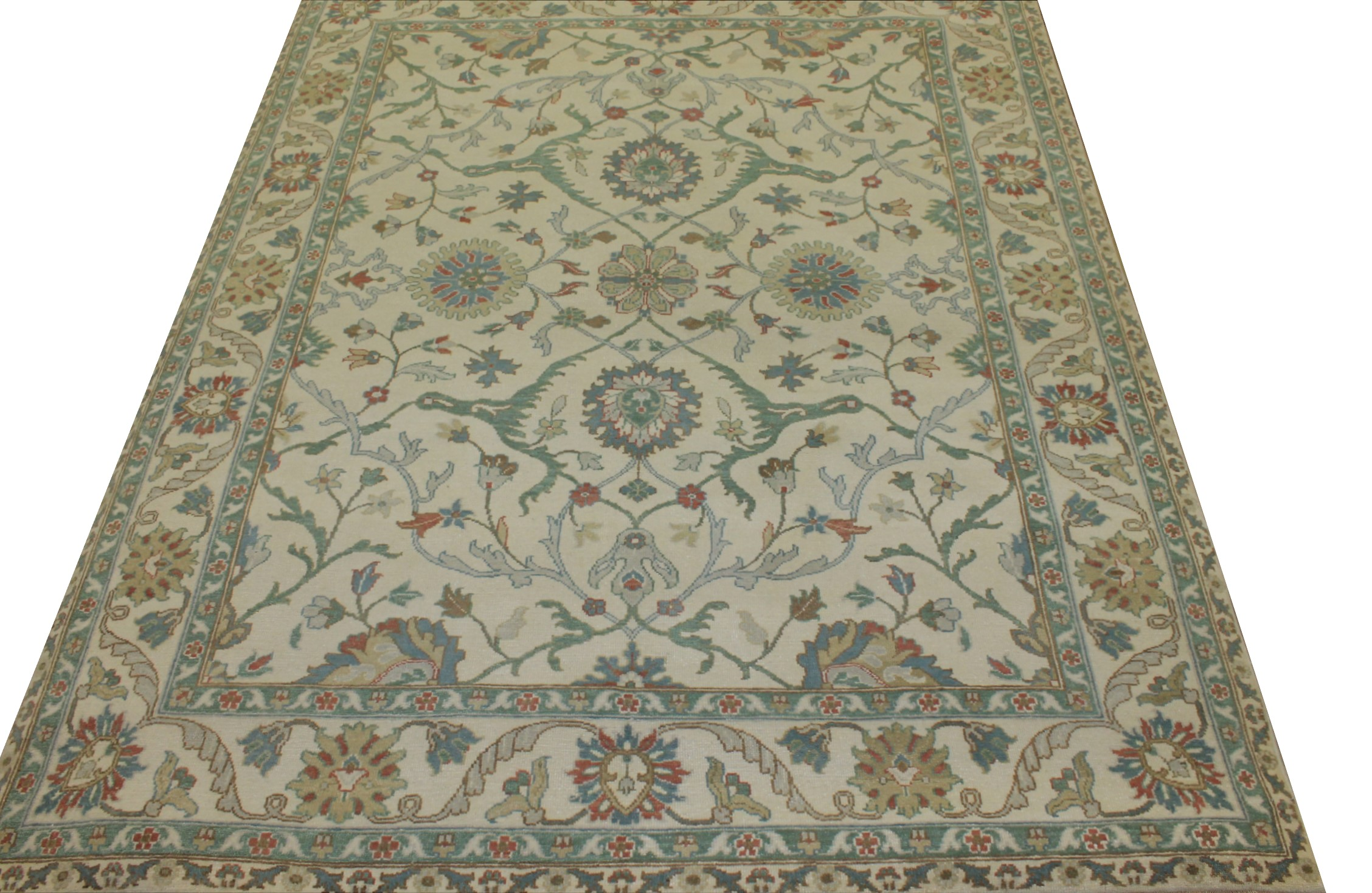 8x10 Oushak Hand Knotted Wool Area Rug - MR17238