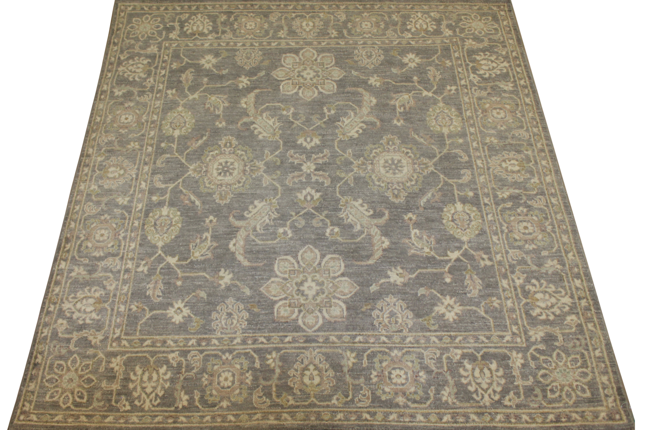 6 ft. - 7 ft. Round & Square Peshawar Hand Knotted Wool Area Rug - MR17276