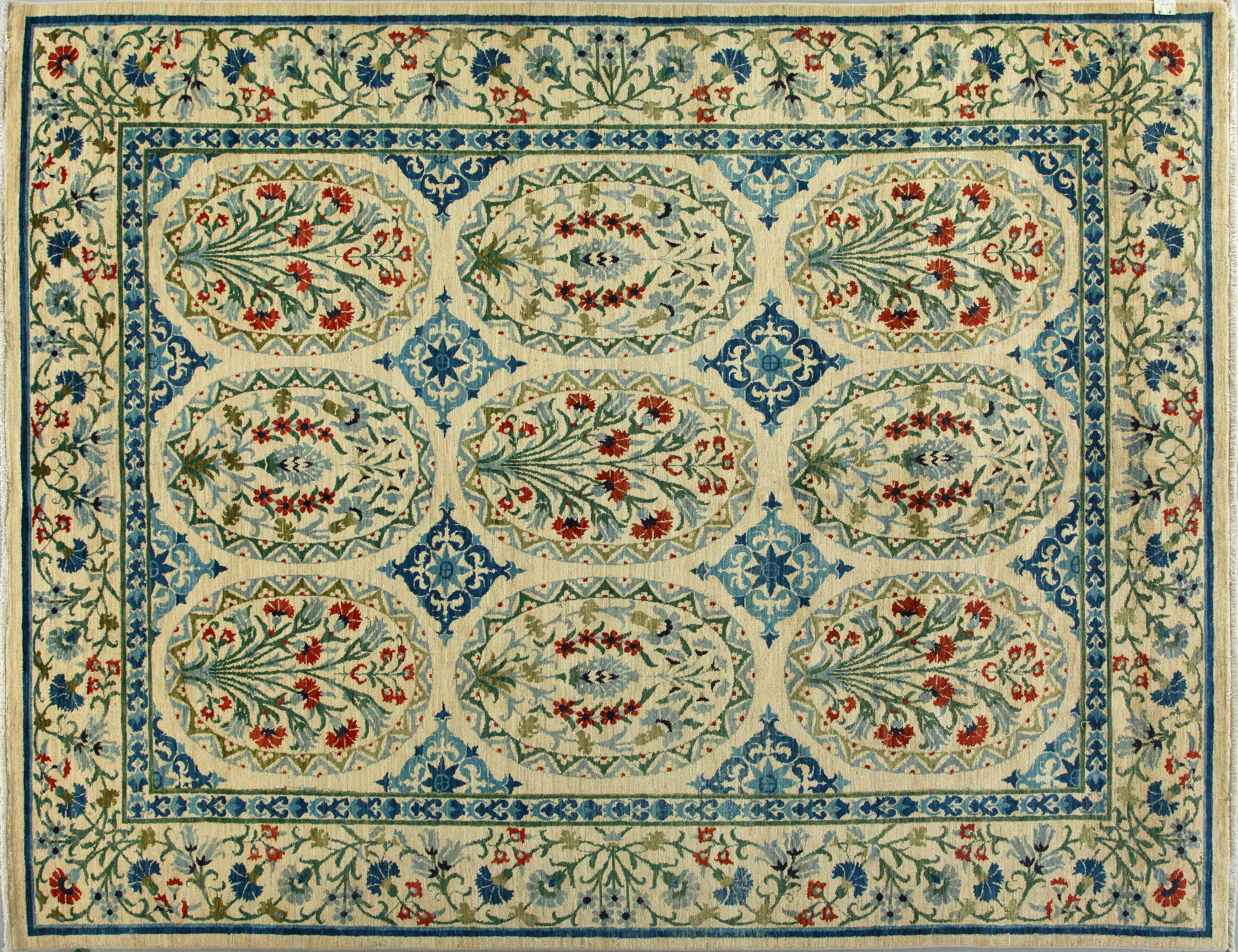 9x12 Contemporary Hand Knotted Wool Area Rug - MR17308