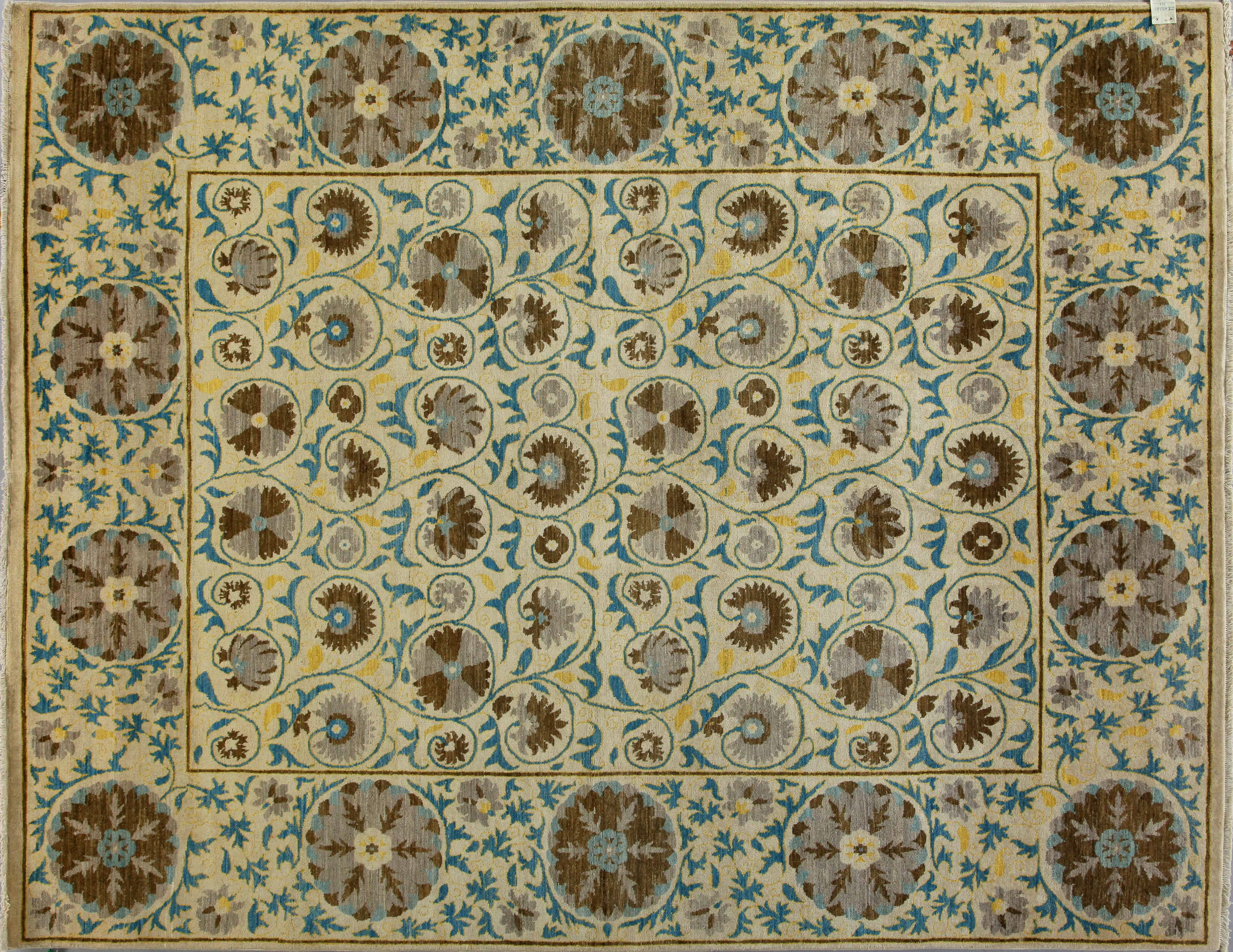 8x10 Contemporary Hand Knotted Wool Area Rug - MR17309