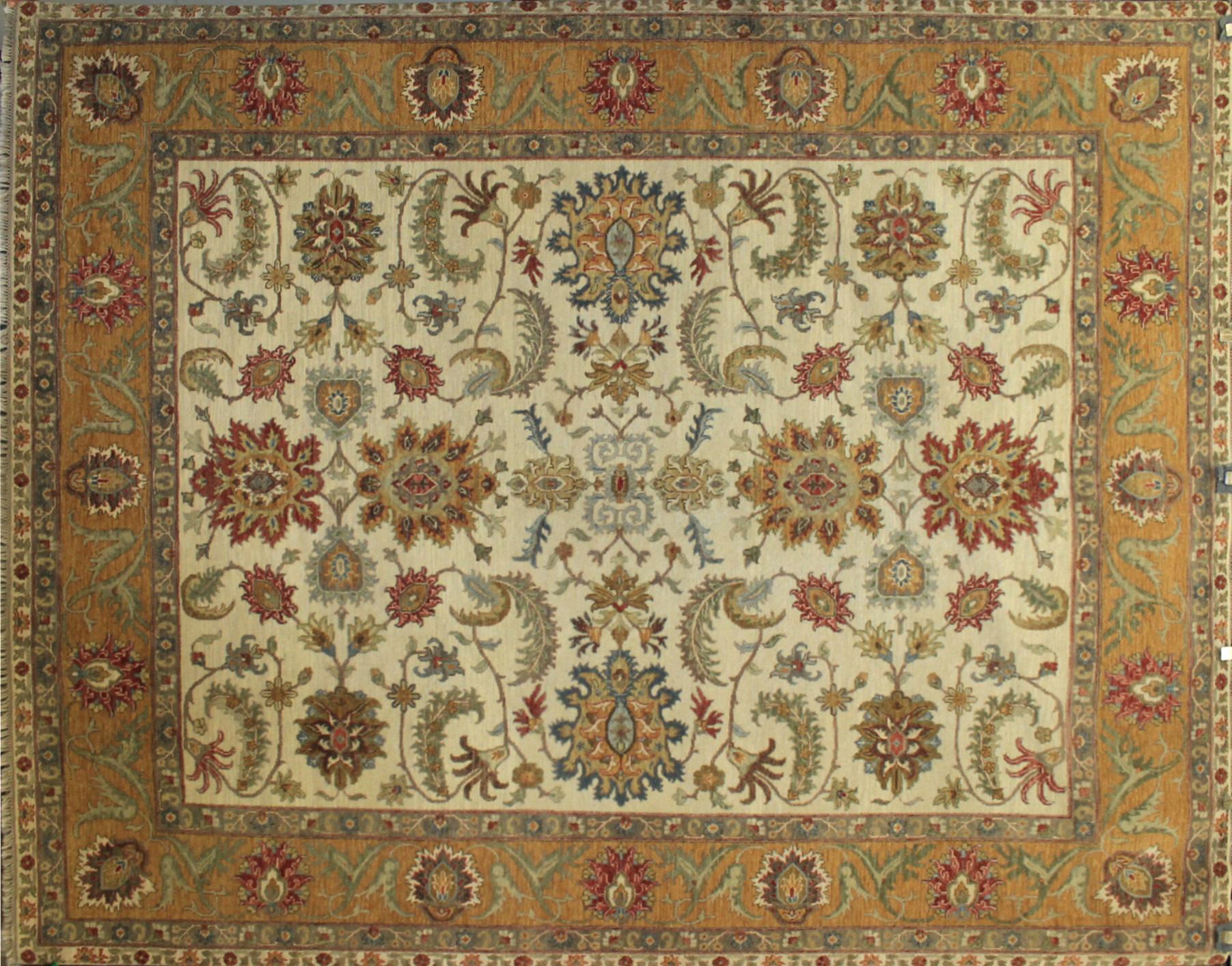 8x10 Traditional Hand Knotted Wool Area Rug - MR17329