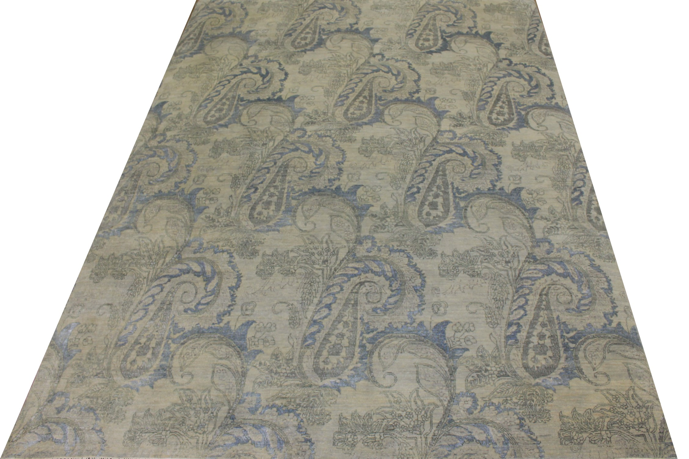 9x12 Contemporary Hand Knotted Wool Area Rug - MR17419