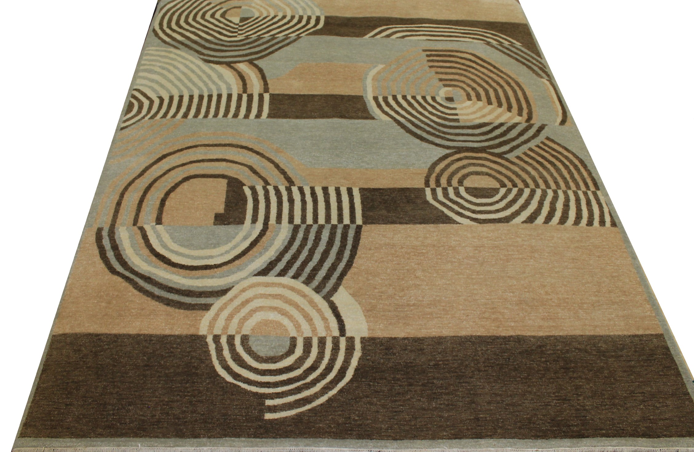 8x10 Contemporary Hand Knotted Wool Area Rug - MR17483