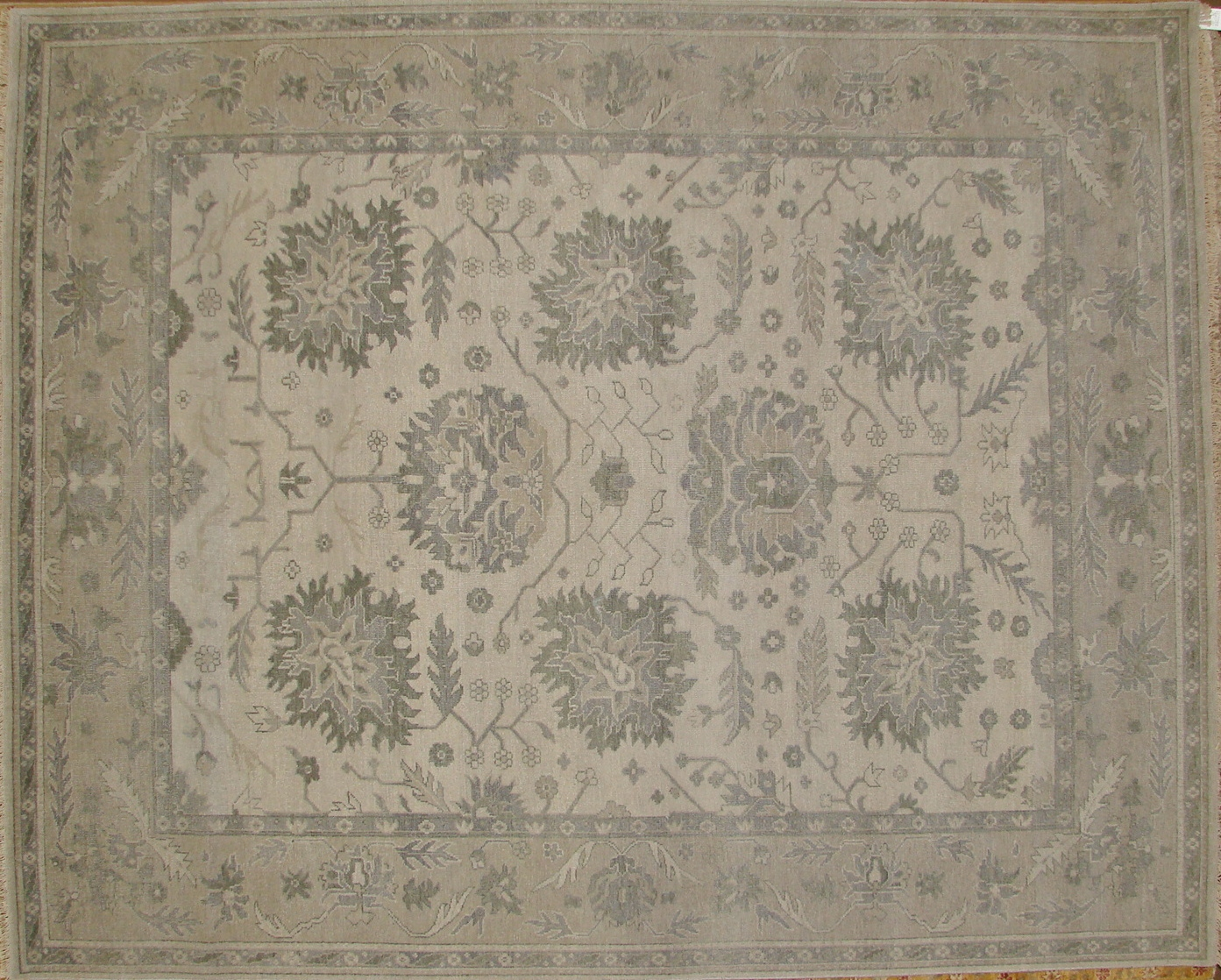 8x10 Oushak Hand Knotted Wool Area Rug - MR17534