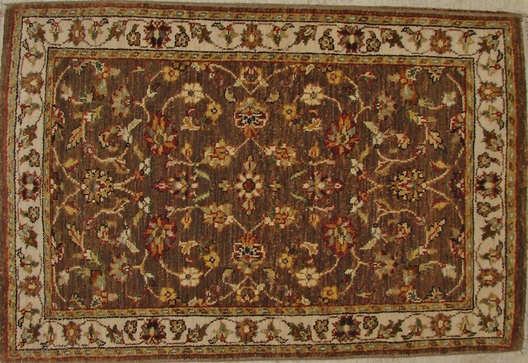 2X3 Traditional Hand Knotted Wool Area Rug - MR17604