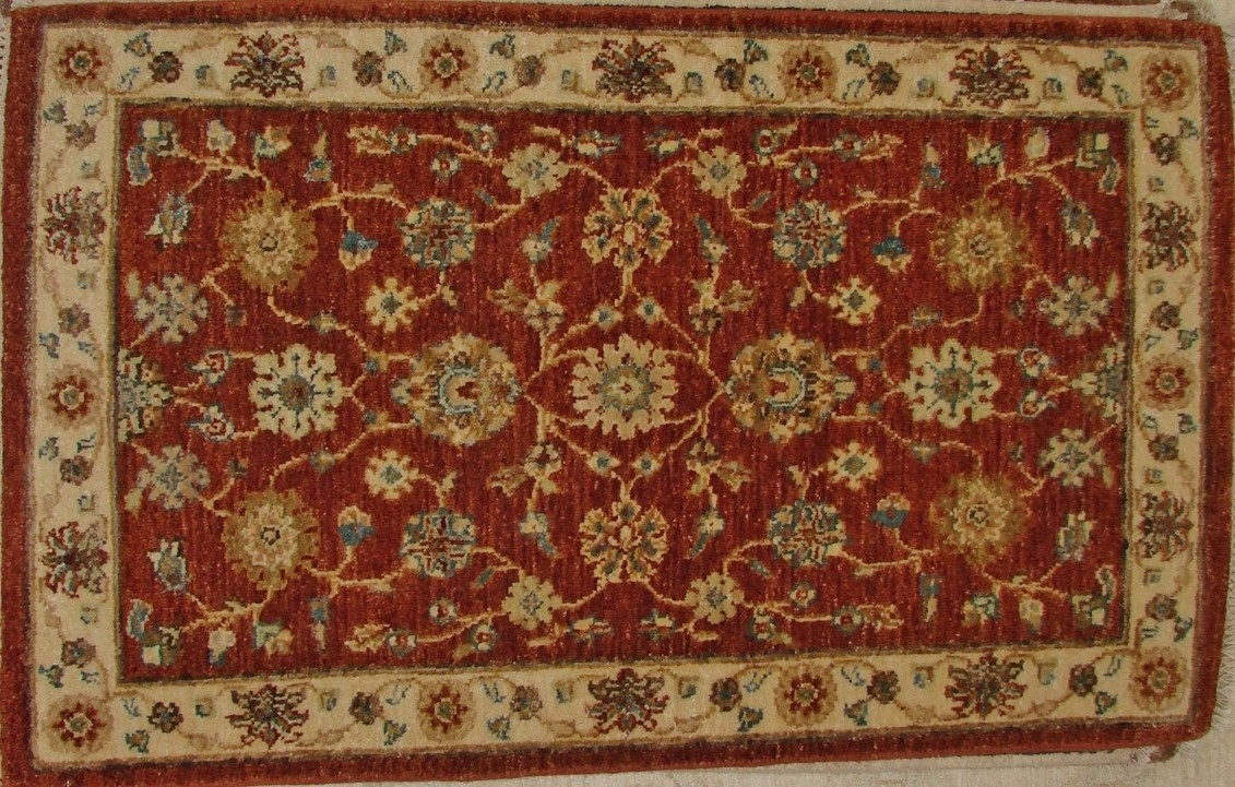 2X3 Traditional Hand Knotted Wool Area Rug - MR17607