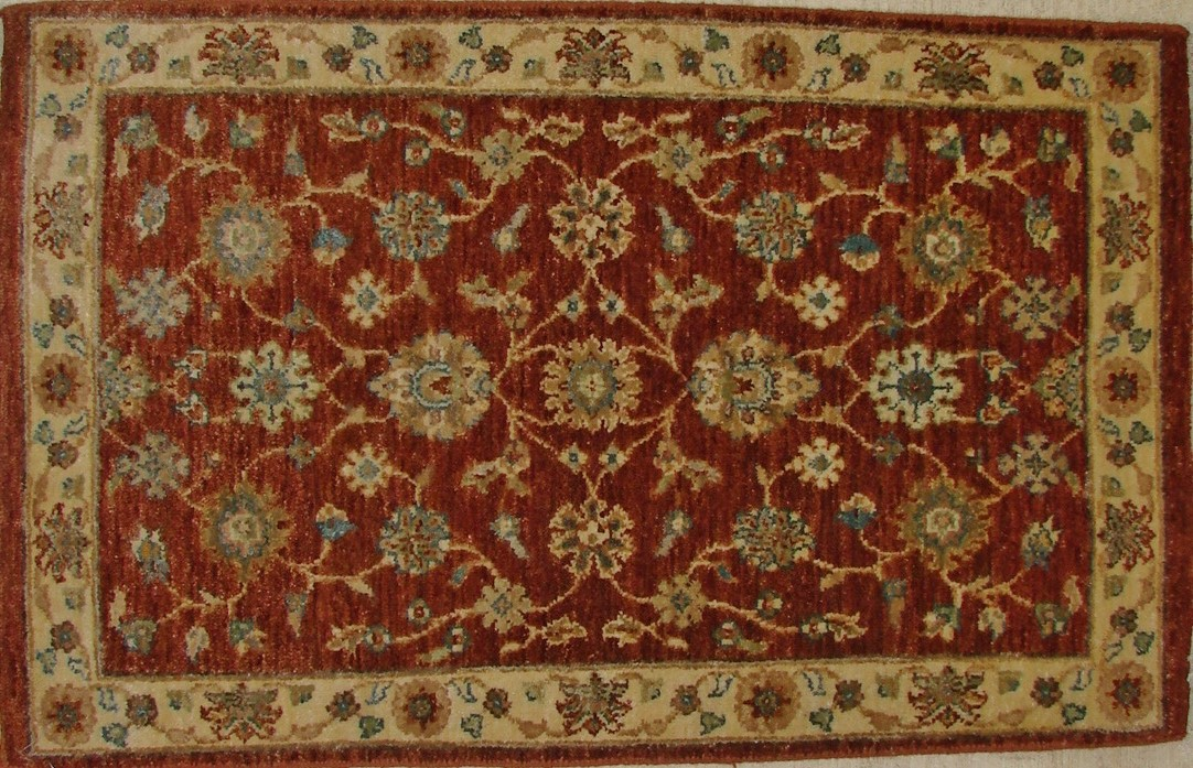 2X3 Traditional Hand Knotted Wool Area Rug - MR17613