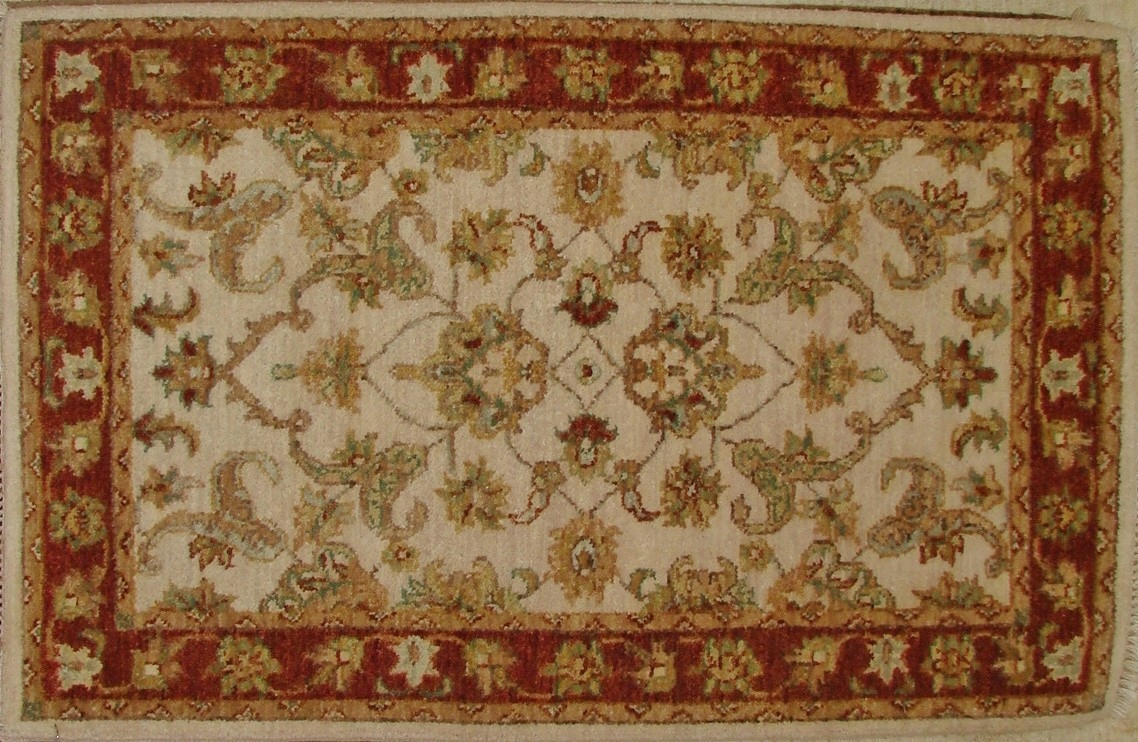 2X3 Traditional Hand Knotted Wool Area Rug - MR17614