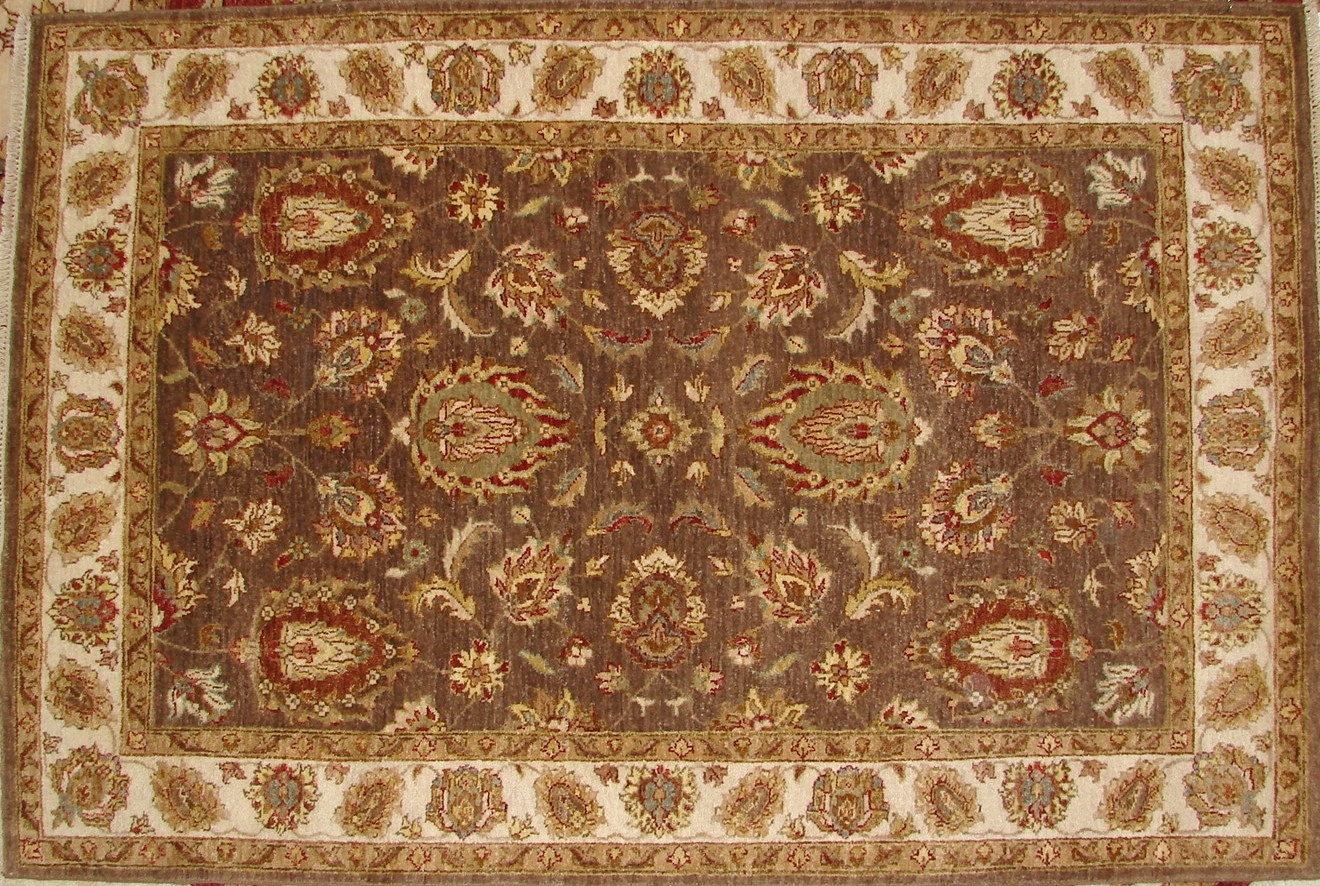 4x6 Traditional Hand Knotted Wool Area Rug - MR17634
