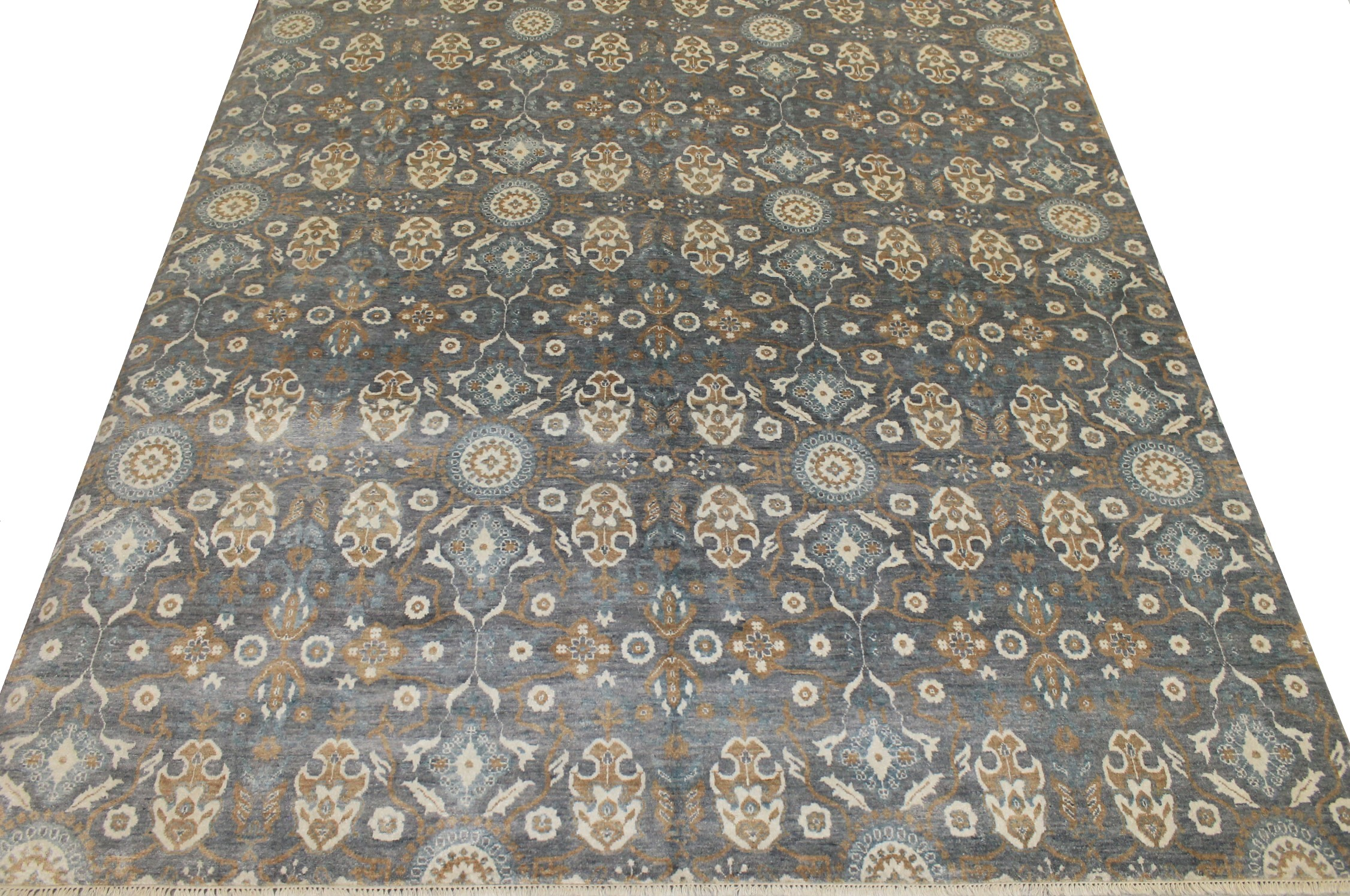 8x10 Contemporary Hand Knotted Wool Area Rug - MR17651