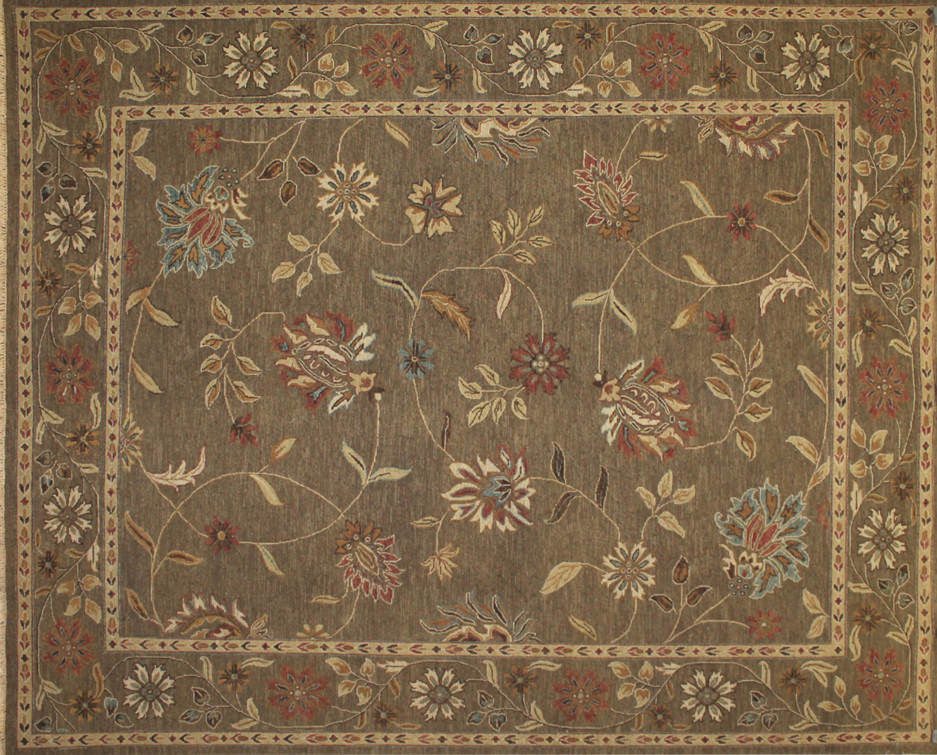 8x10 Flat Weave Hand Knotted Wool Area Rug - MR17662