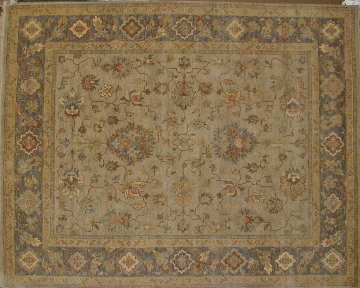 8x10 Traditional Hand Knotted Wool Area Rug - MR17691