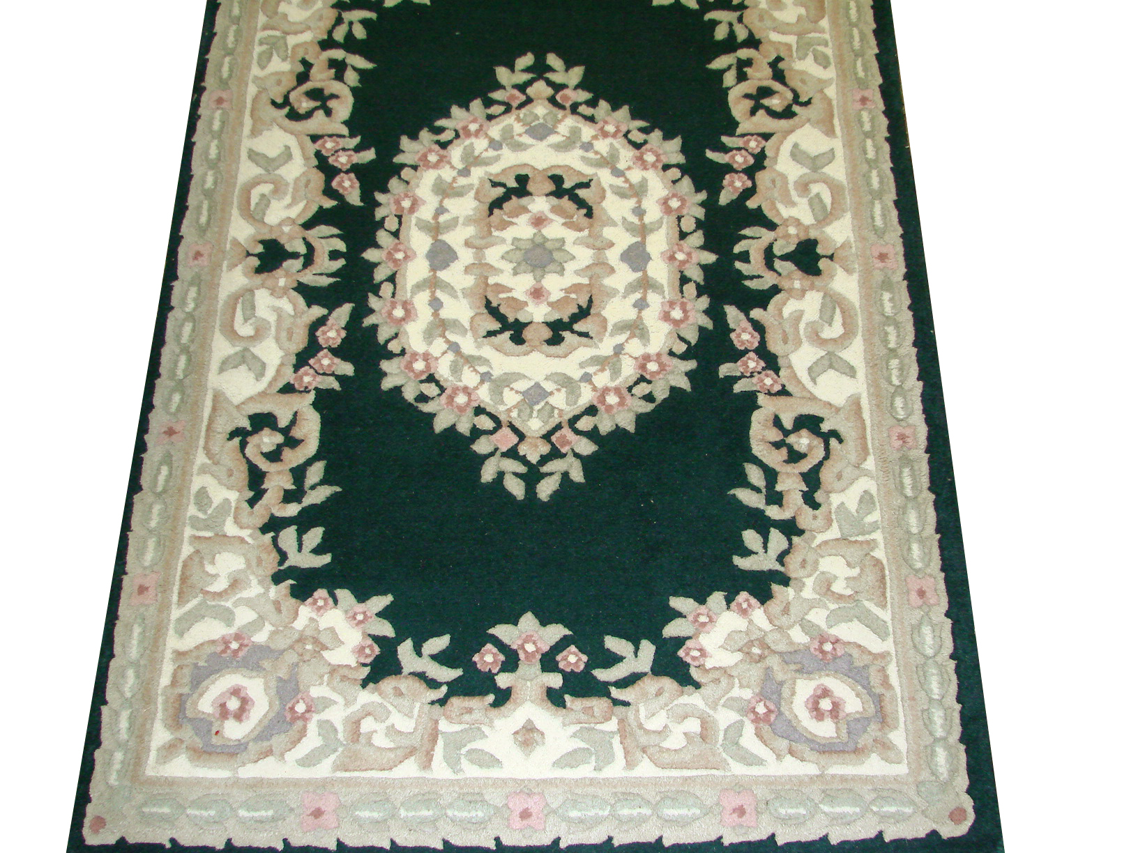 3x5 Traditional Hand Knotted Wool Area Rug - MR1779