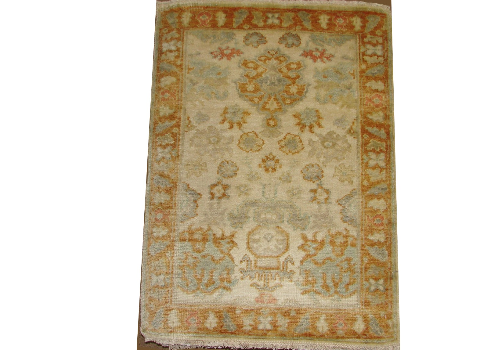 2X3 Oushak Hand Knotted Wool Area Rug - MR17872