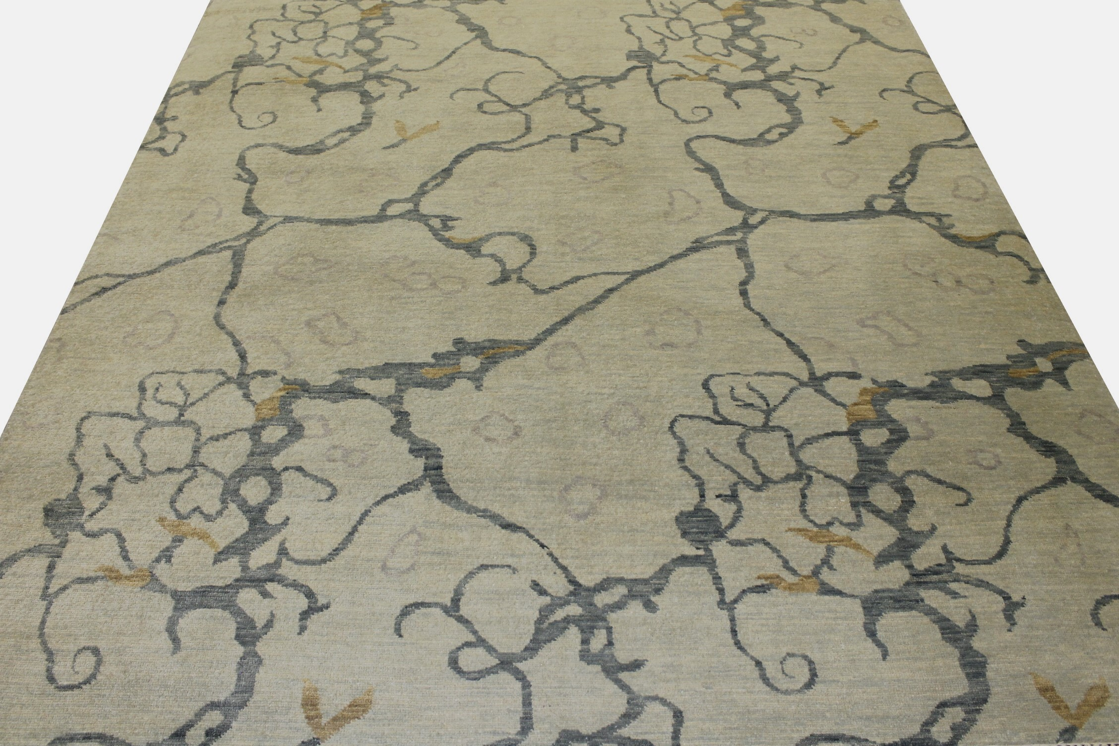 10x14 Contemporary Hand Knotted Wool Area Rug - MR17907