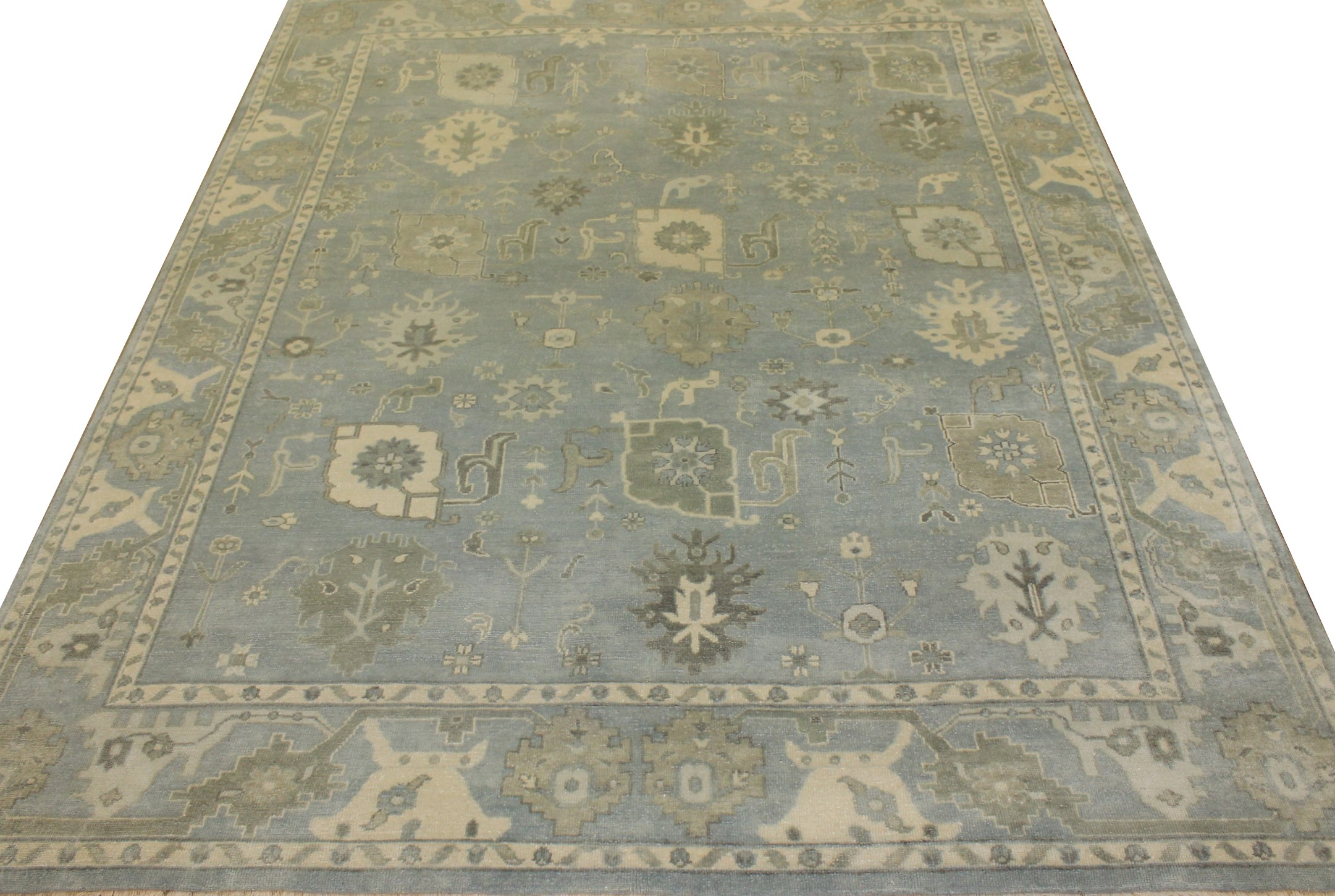 8x10 Oushak Hand Knotted Wool Area Rug - MR17921
