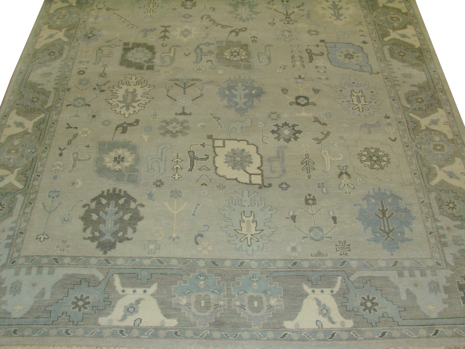 8x10 Oushak Hand Knotted Wool Area Rug - MR17923