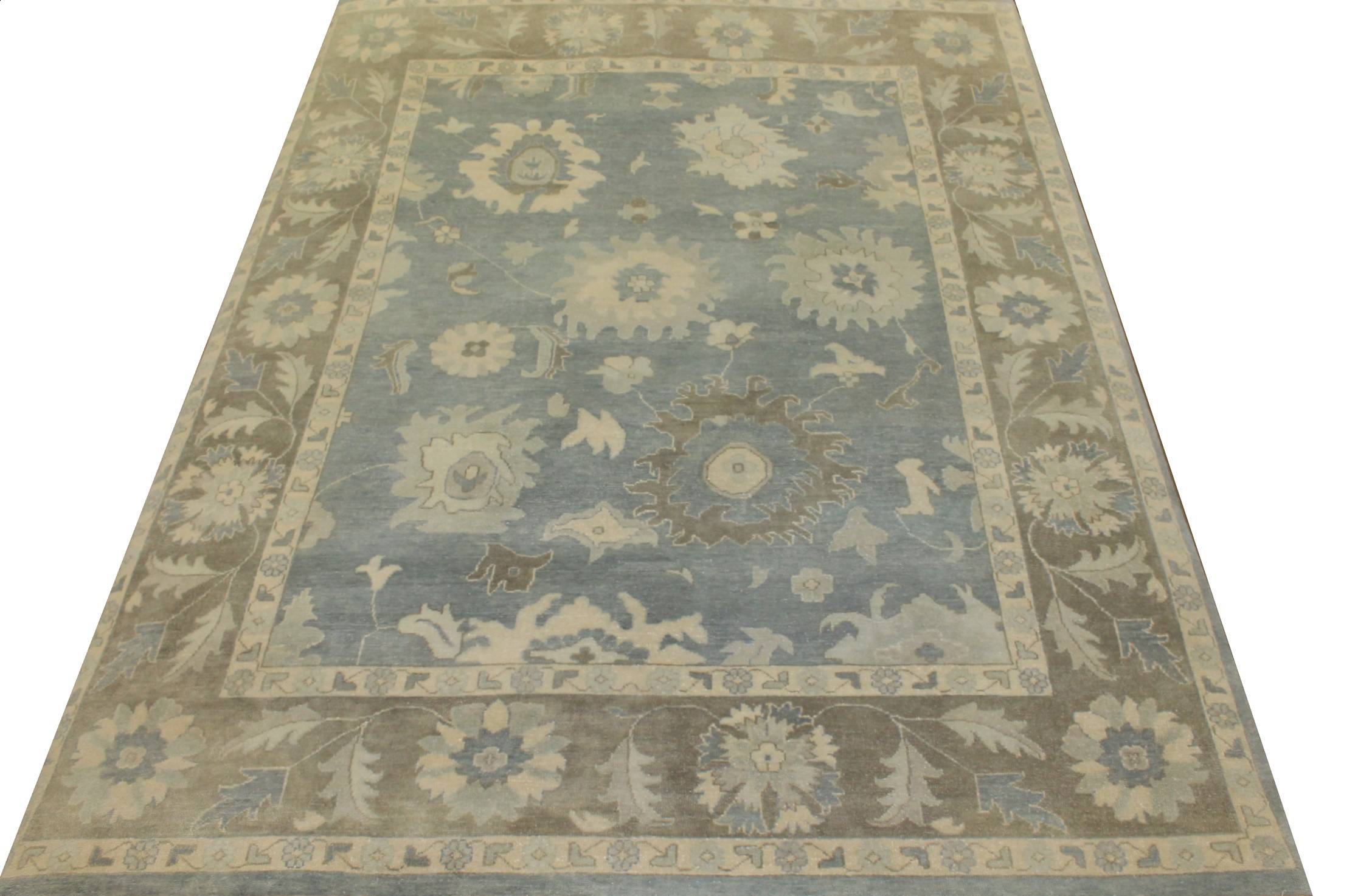 8x10 Oushak Hand Knotted Wool Area Rug - MR17925