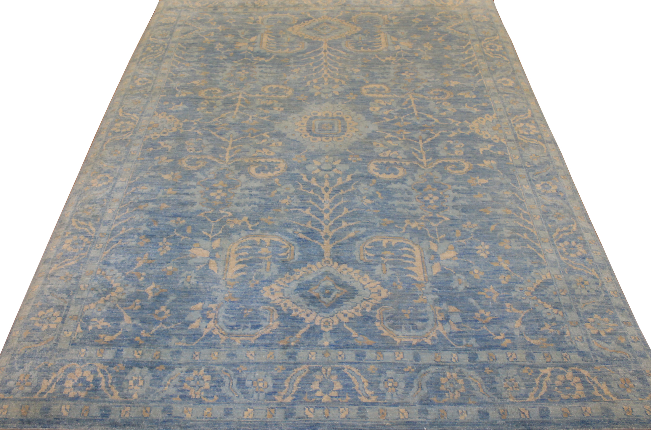 9x12 Oushak Hand Knotted Wool Area Rug - MR18028