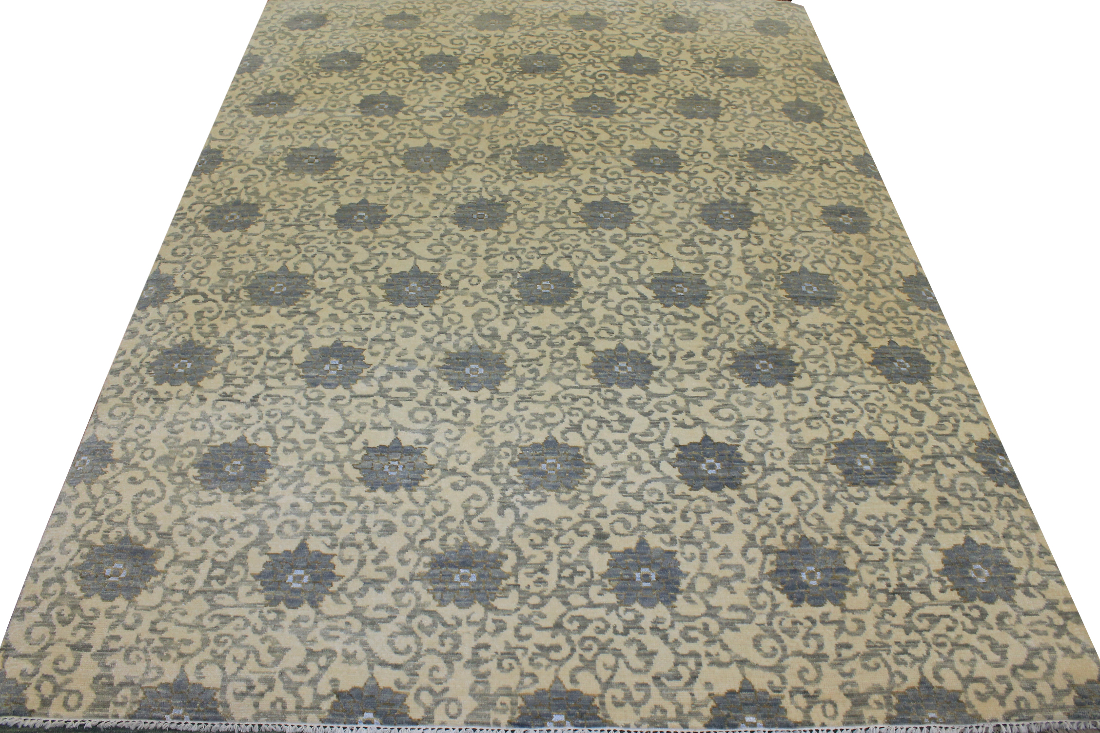 9x12 Contemporary Hand Knotted Wool Area Rug - MR18085