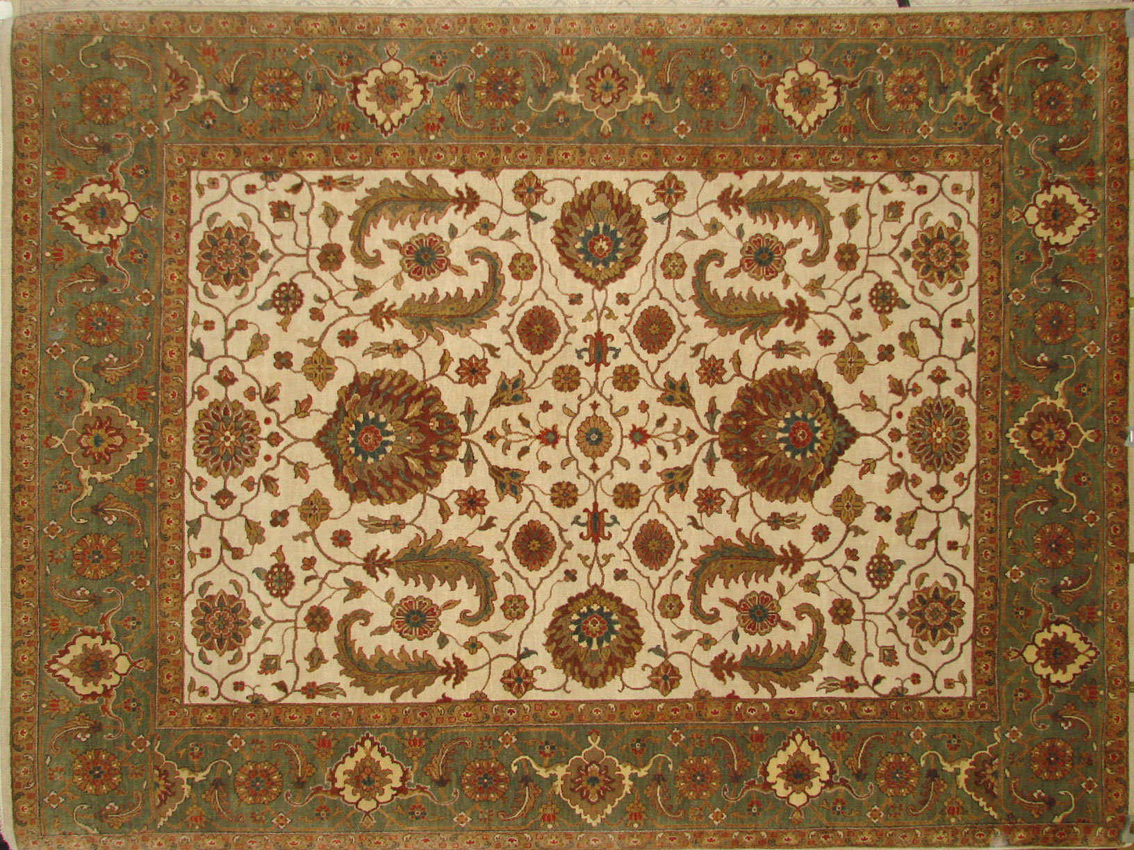 8x10 Antique Revival Hand Knotted Wool Area Rug - MR18397