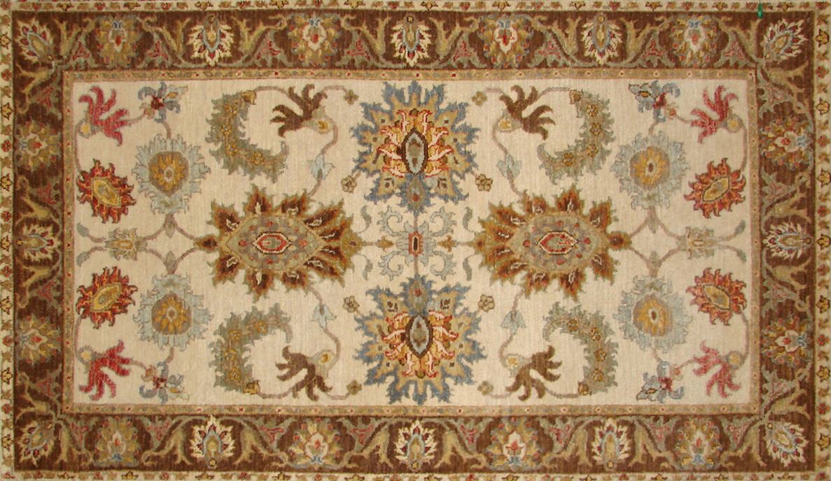 3x5 Traditional Hand Knotted Wool Area Rug - MR18483