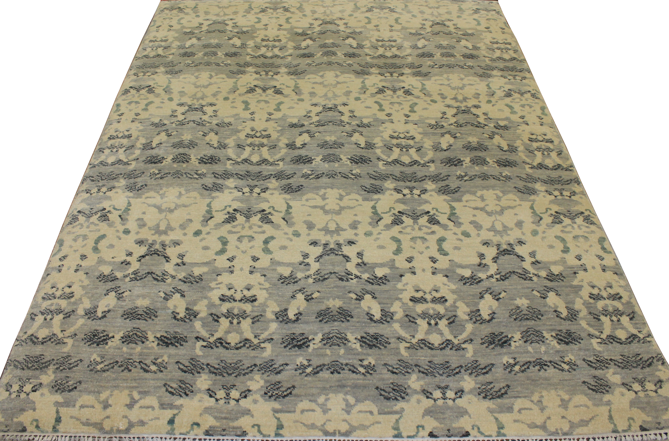 9x12 Contemporary Hand Knotted Wool Area Rug - MR18515