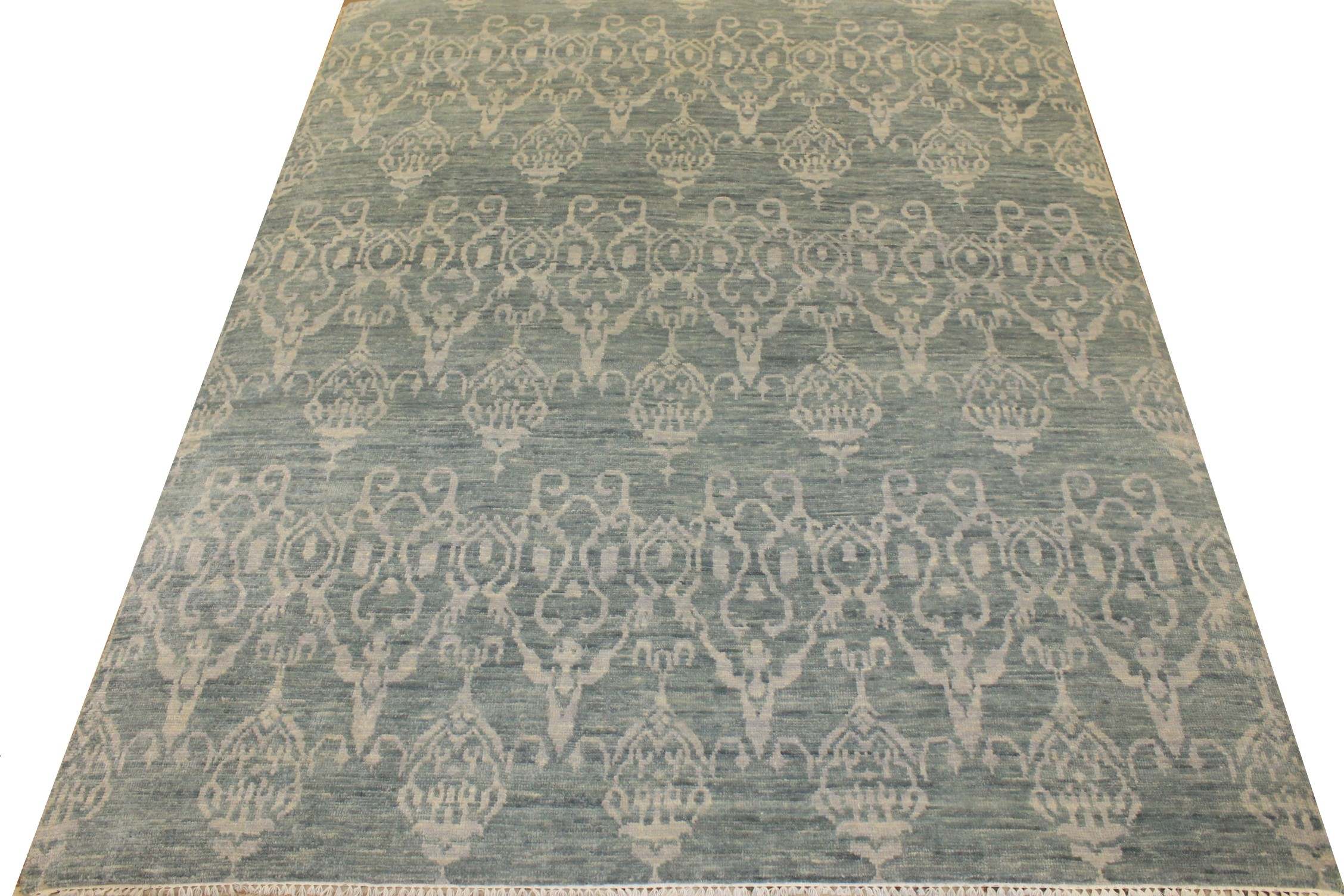 8x10 Contemporary Hand Knotted Wool Area Rug - MR18517
