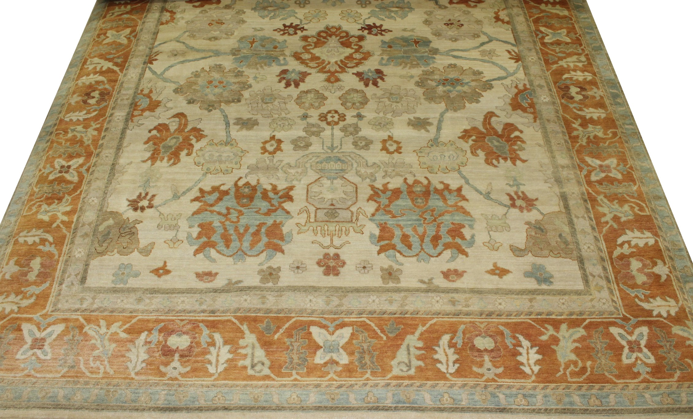 10x14 Oushak Hand Knotted Wool Area Rug - MR18543