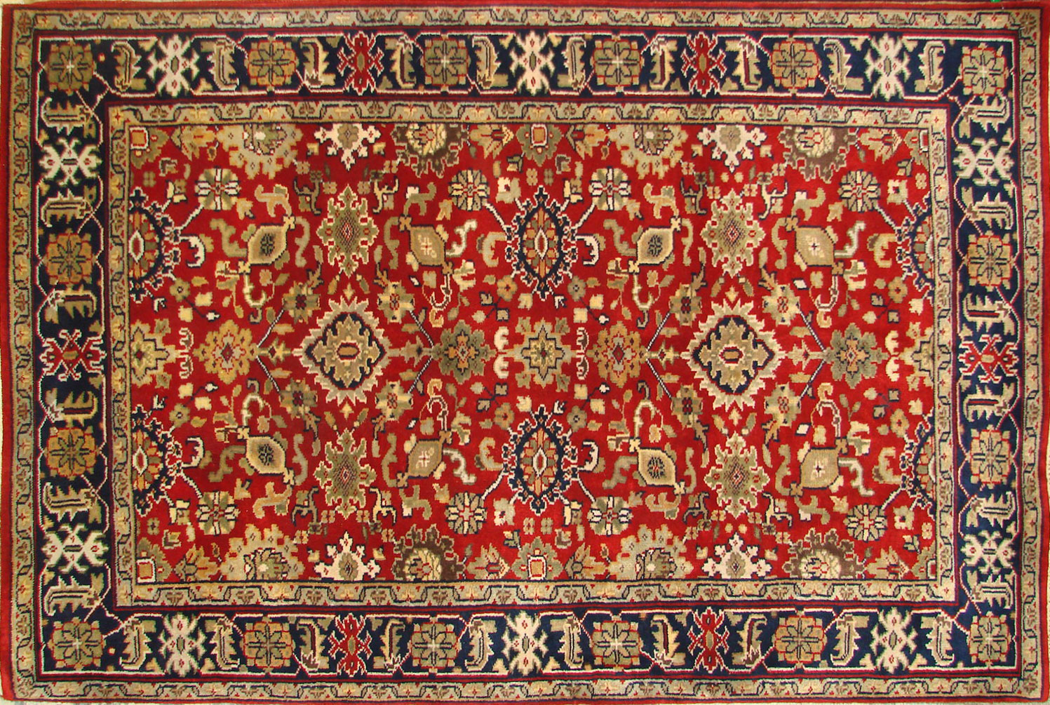 4x6 Traditional Hand Knotted Wool Area Rug - MR18550