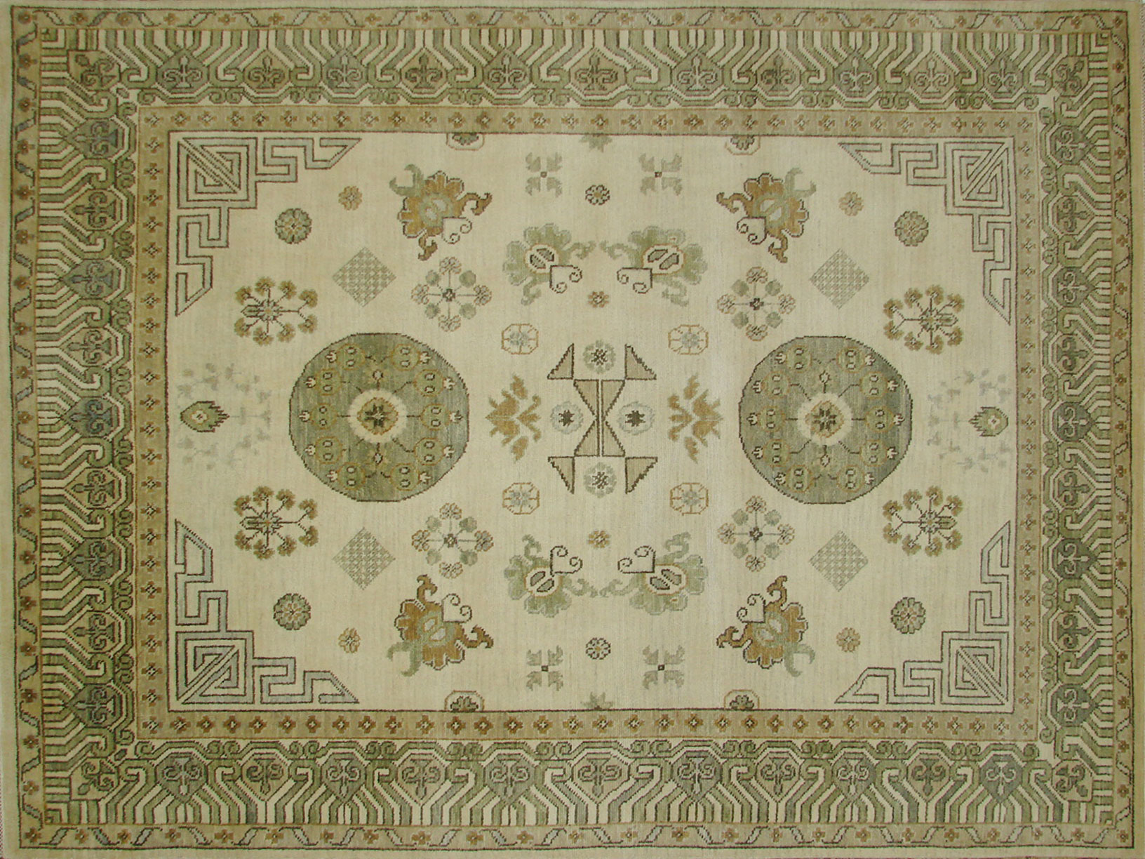 8x10 Oushak Hand Knotted Wool Area Rug - MR18595