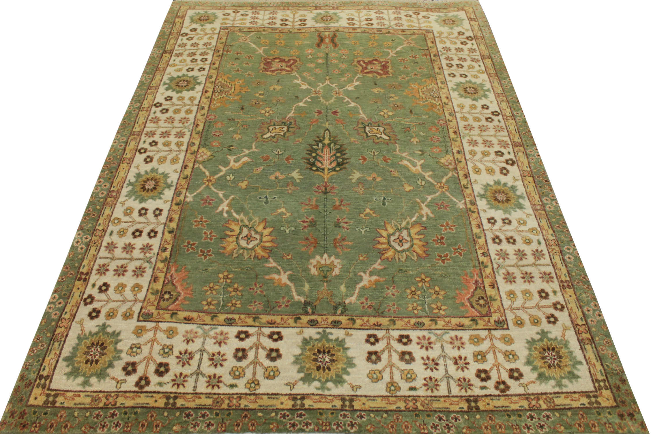 5x7/8 Traditional Hand Knotted Wool Area Rug - MR18677